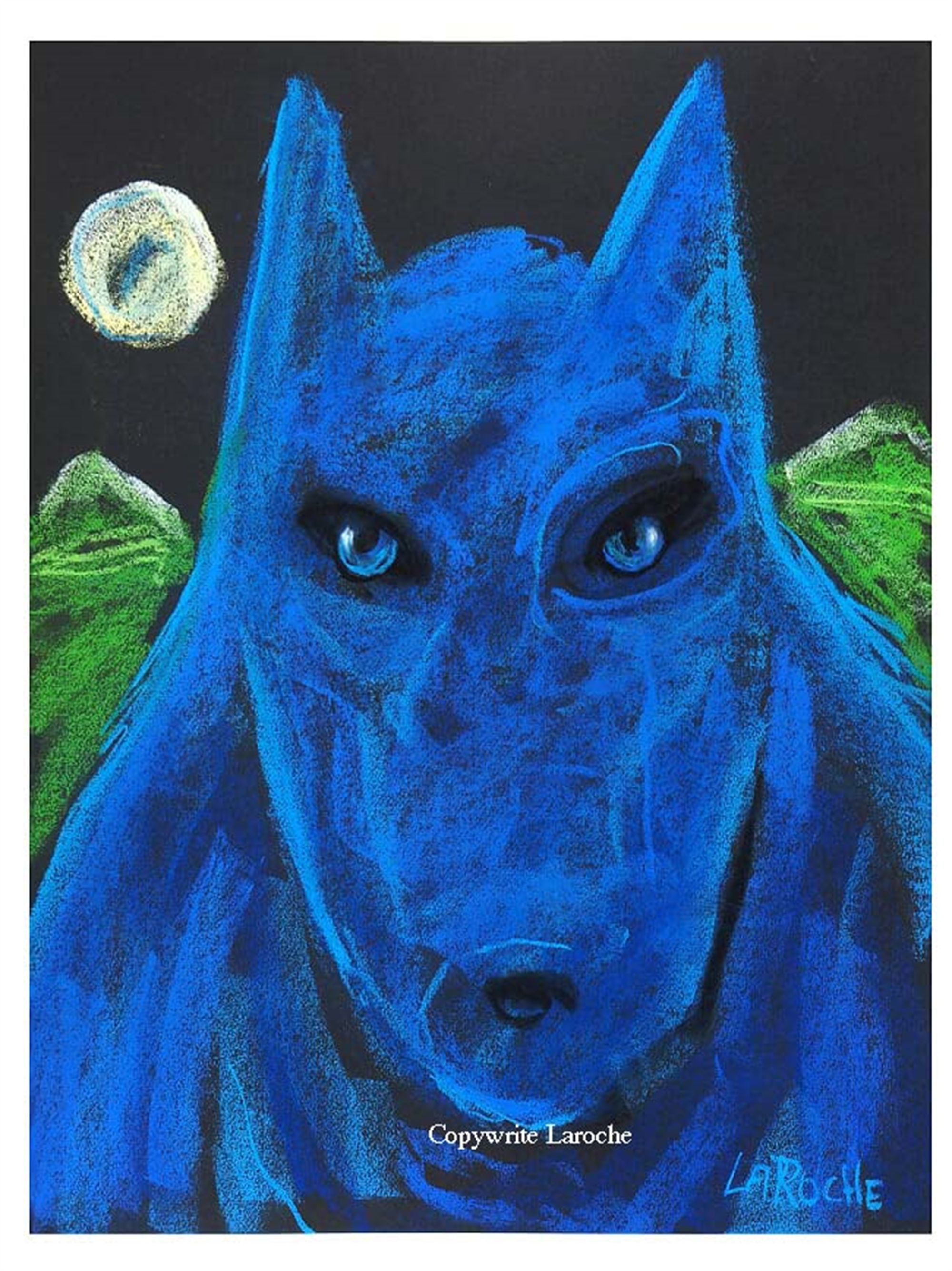 THE PACK / WILD BLUE WOLF by Carole LaRoche