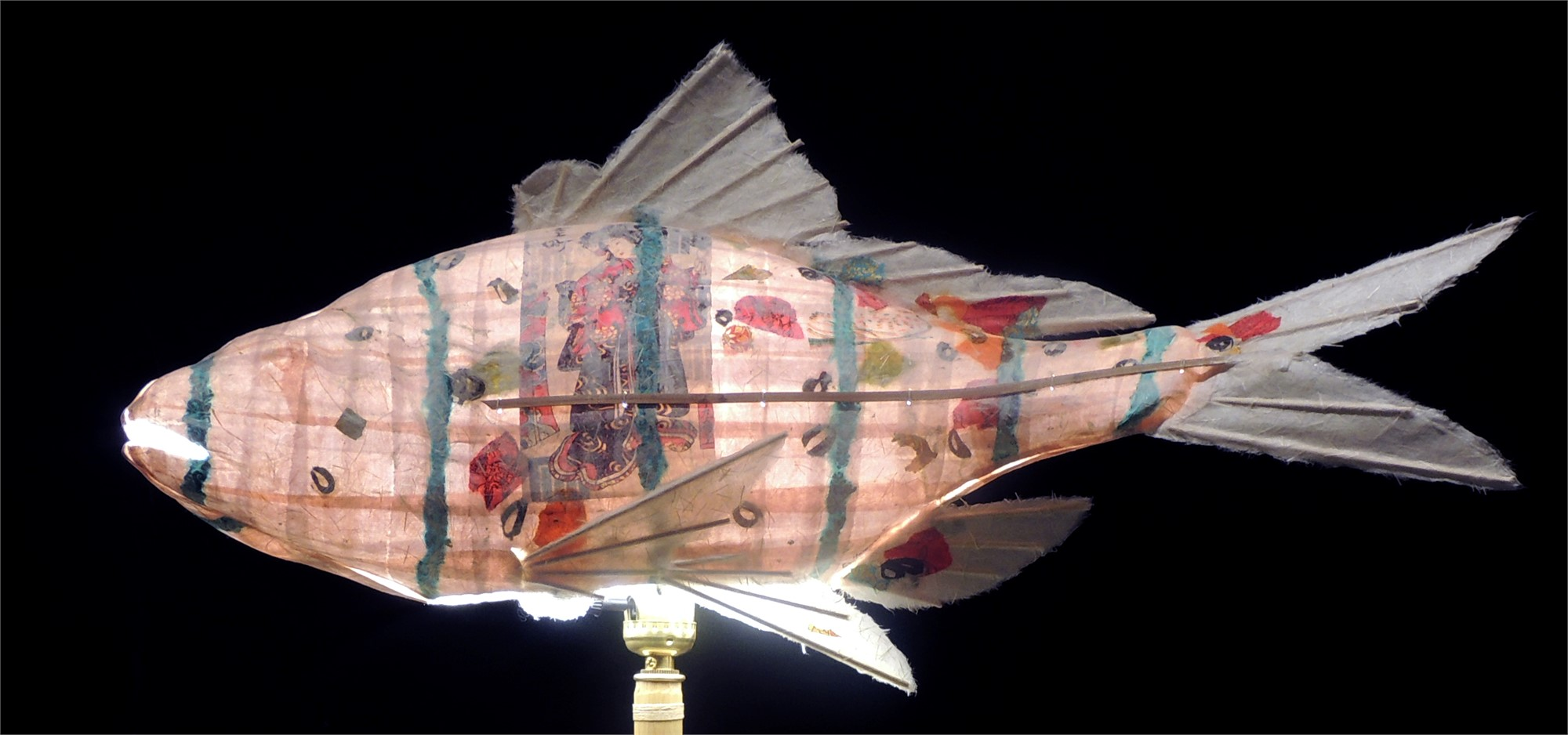 Pale Pink Perch with Bird by Elaine Hanowell