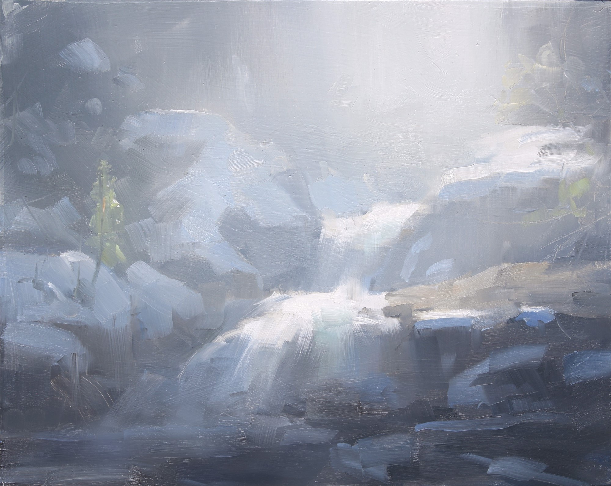 Snow on Copeland Falls Study by Dave Santillanes