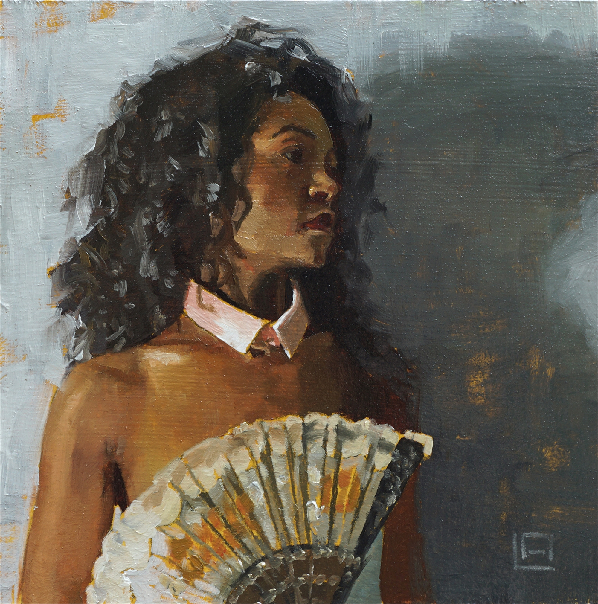 Lady with Fan by Linda Adair
