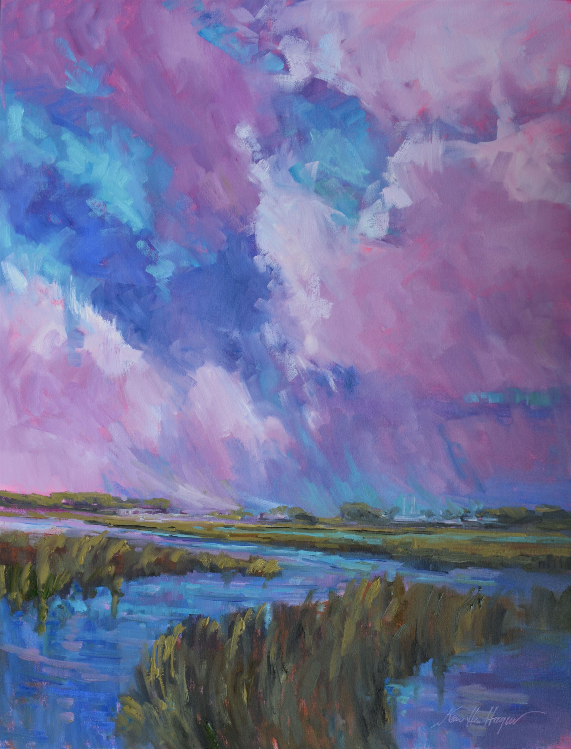 Shem Creek Colors by Karen Hewitt Hagan