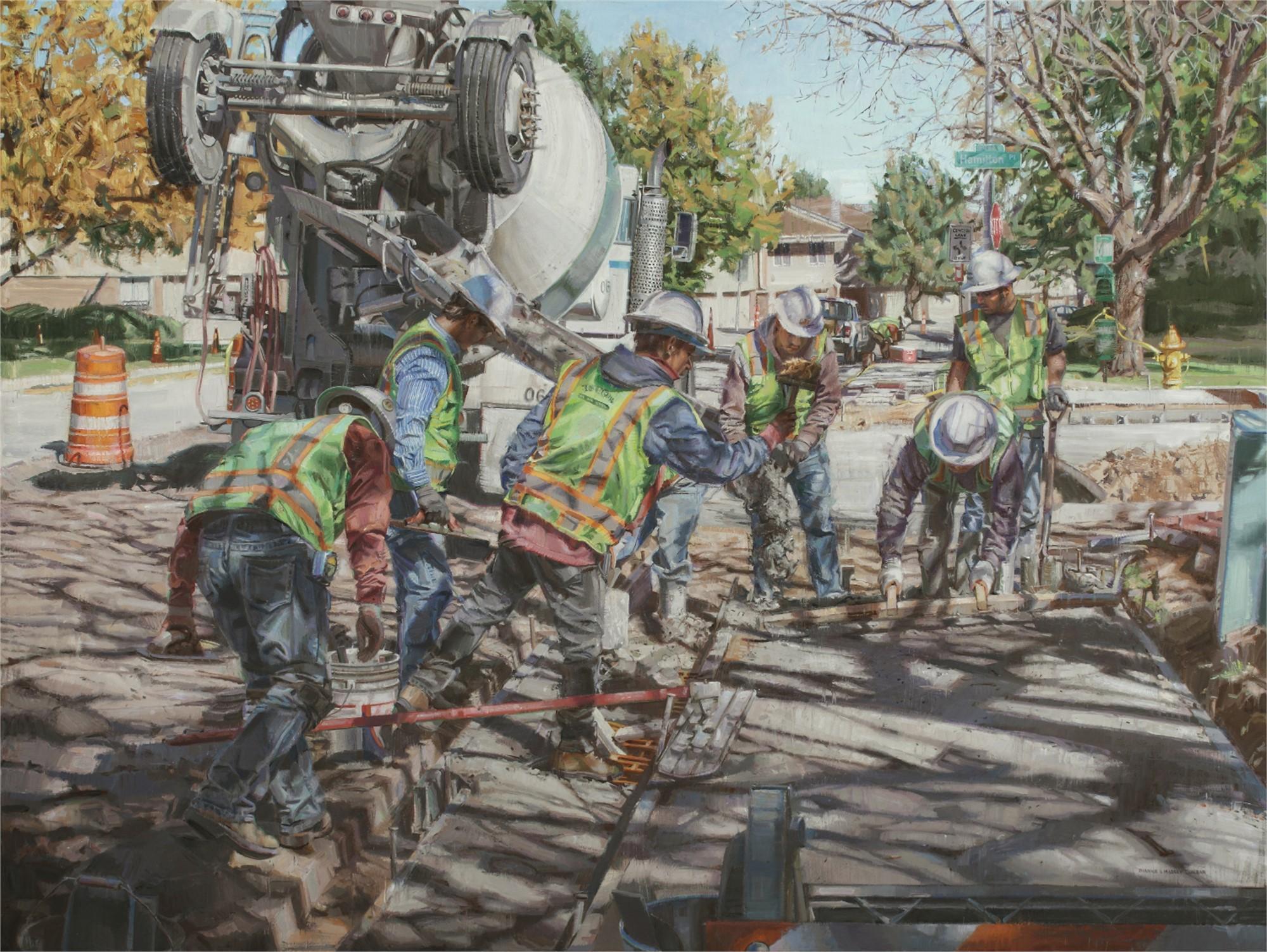 Eight Men Working by Dianne L Massey Dunbar