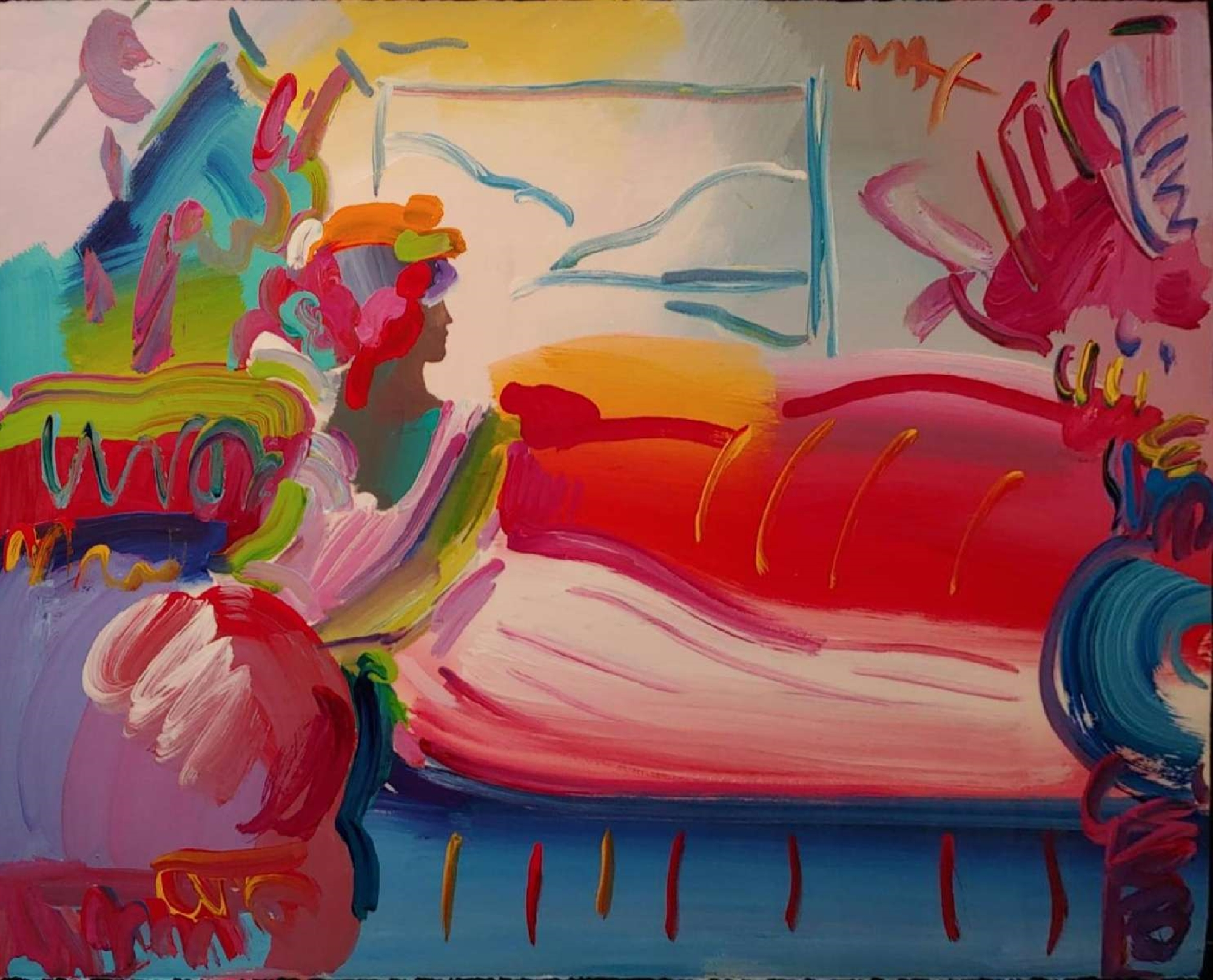 RECLINING LADY by Peter Max