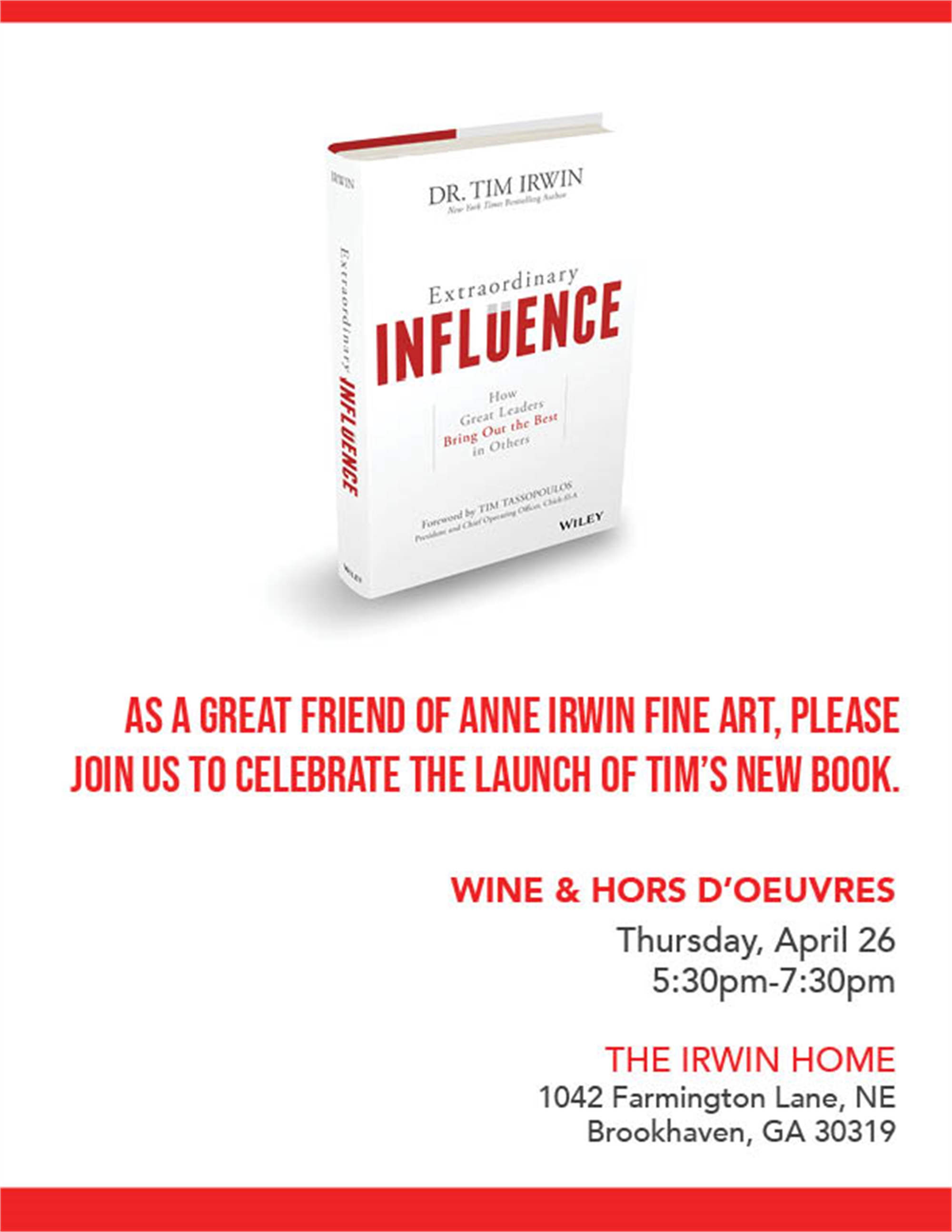 Extraordinary Influence by Tim Irwin