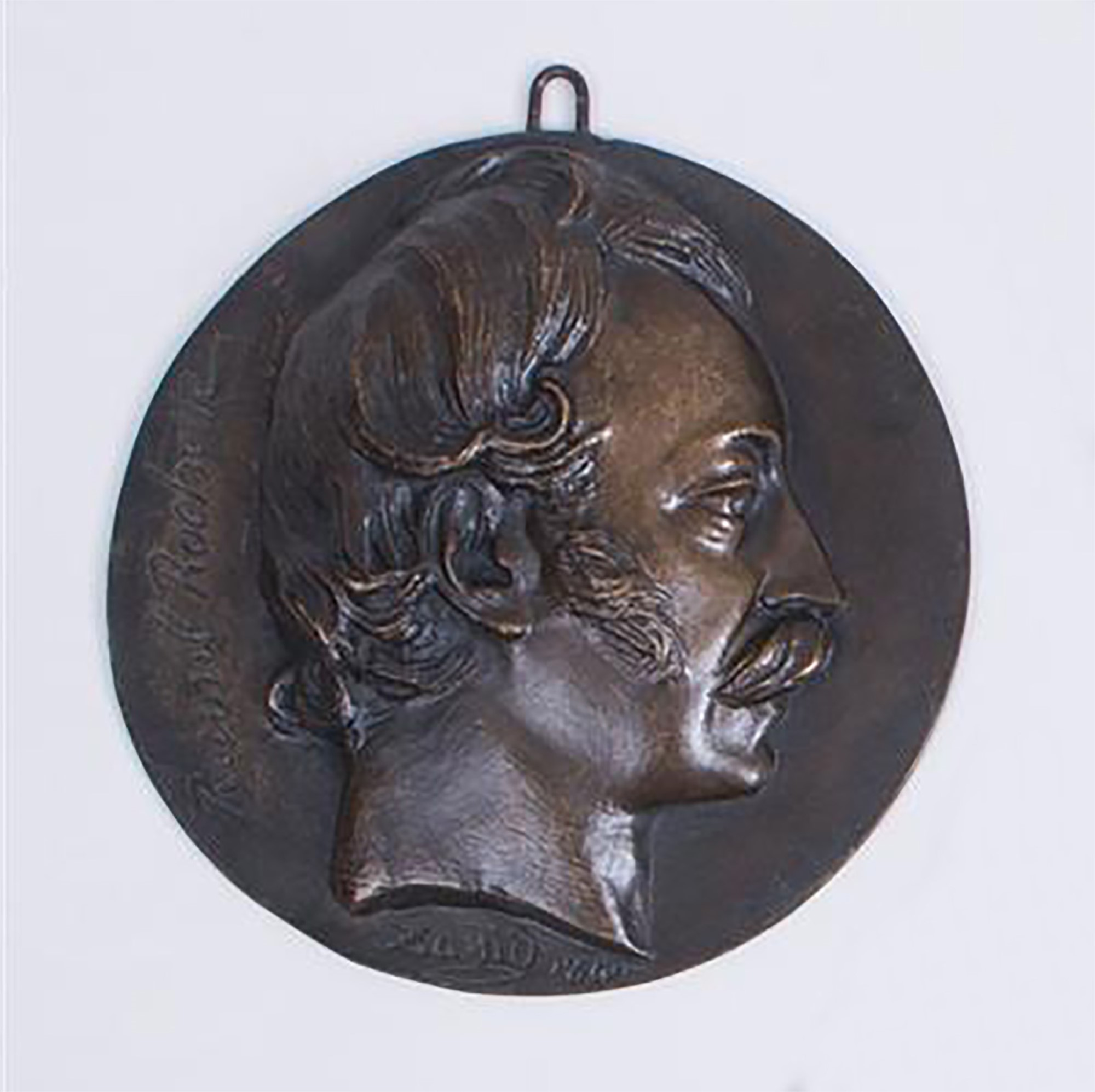 BRONZE RONDEL OF RAOUL ROCHETTE by David D'Angers