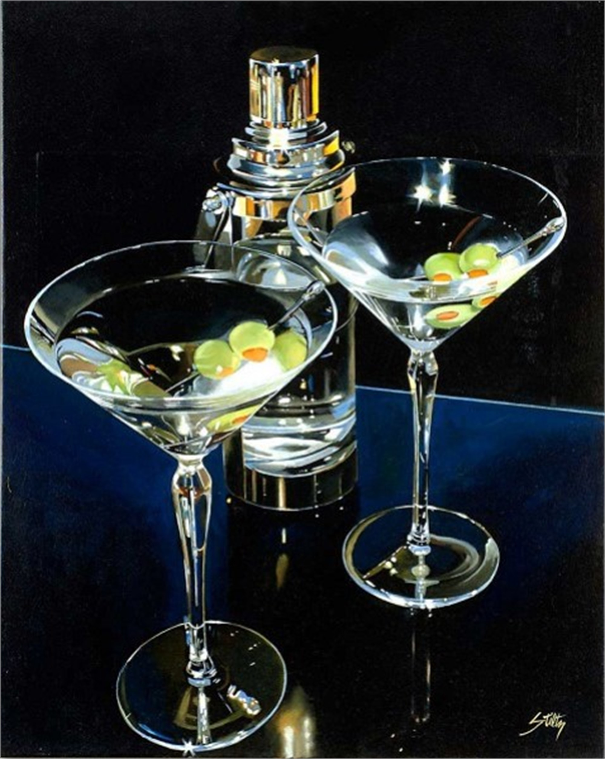 Martini Night (Martinis for Two), 2014 by Tom Stiltz