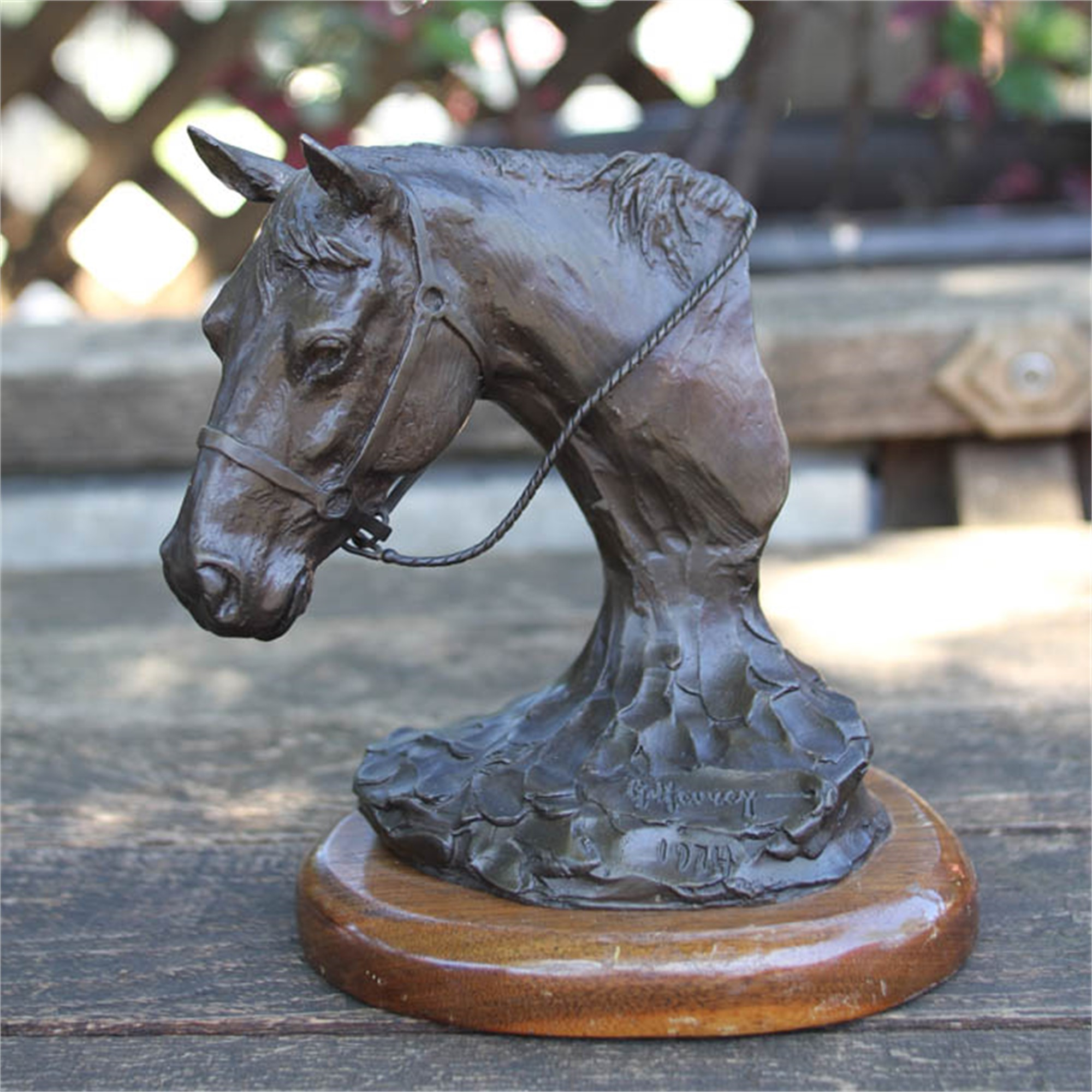 Button With Reins by G. Harvey