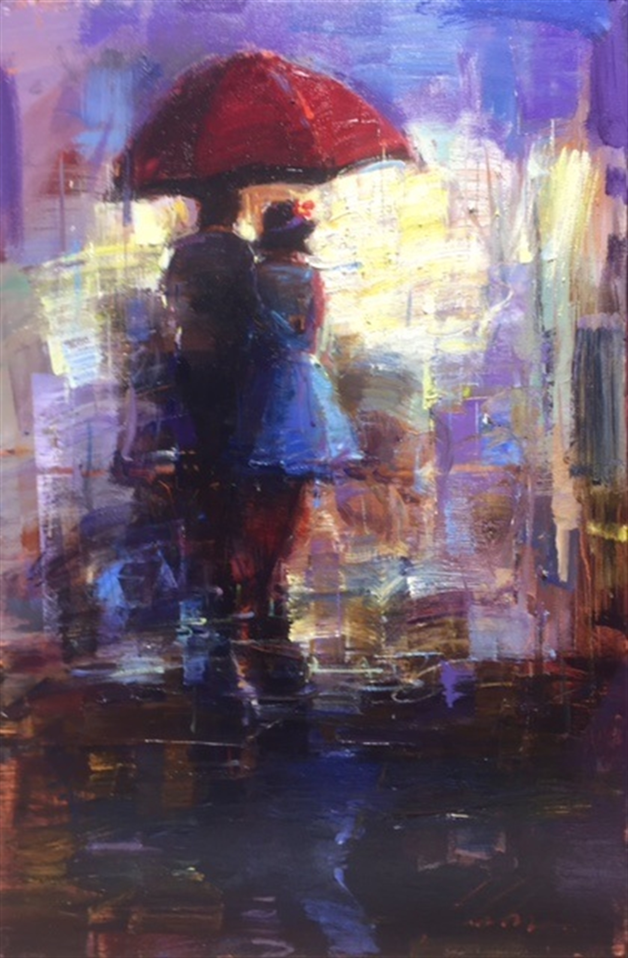 The Red Umbrella by Michael Flohr