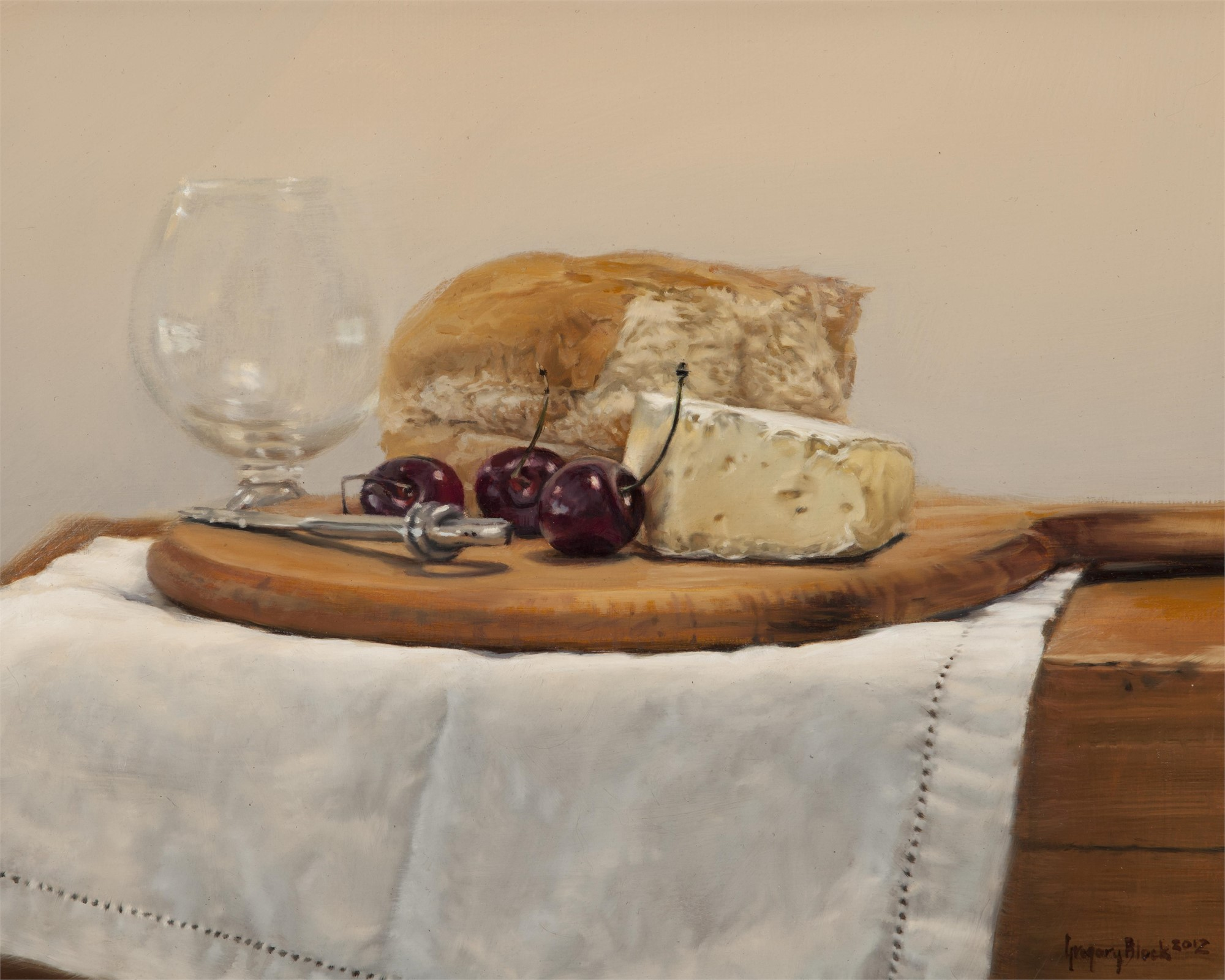 Bread, Brie, and Bings by Gregory Block