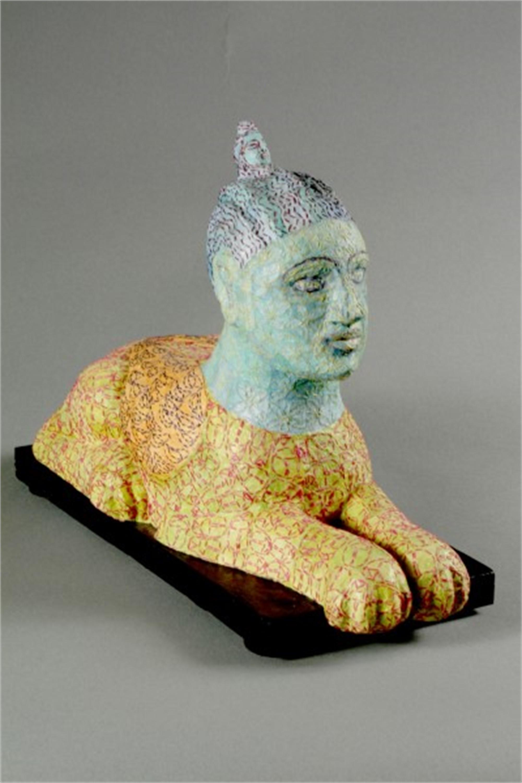 Green Tara Sphinx by Martha Shade