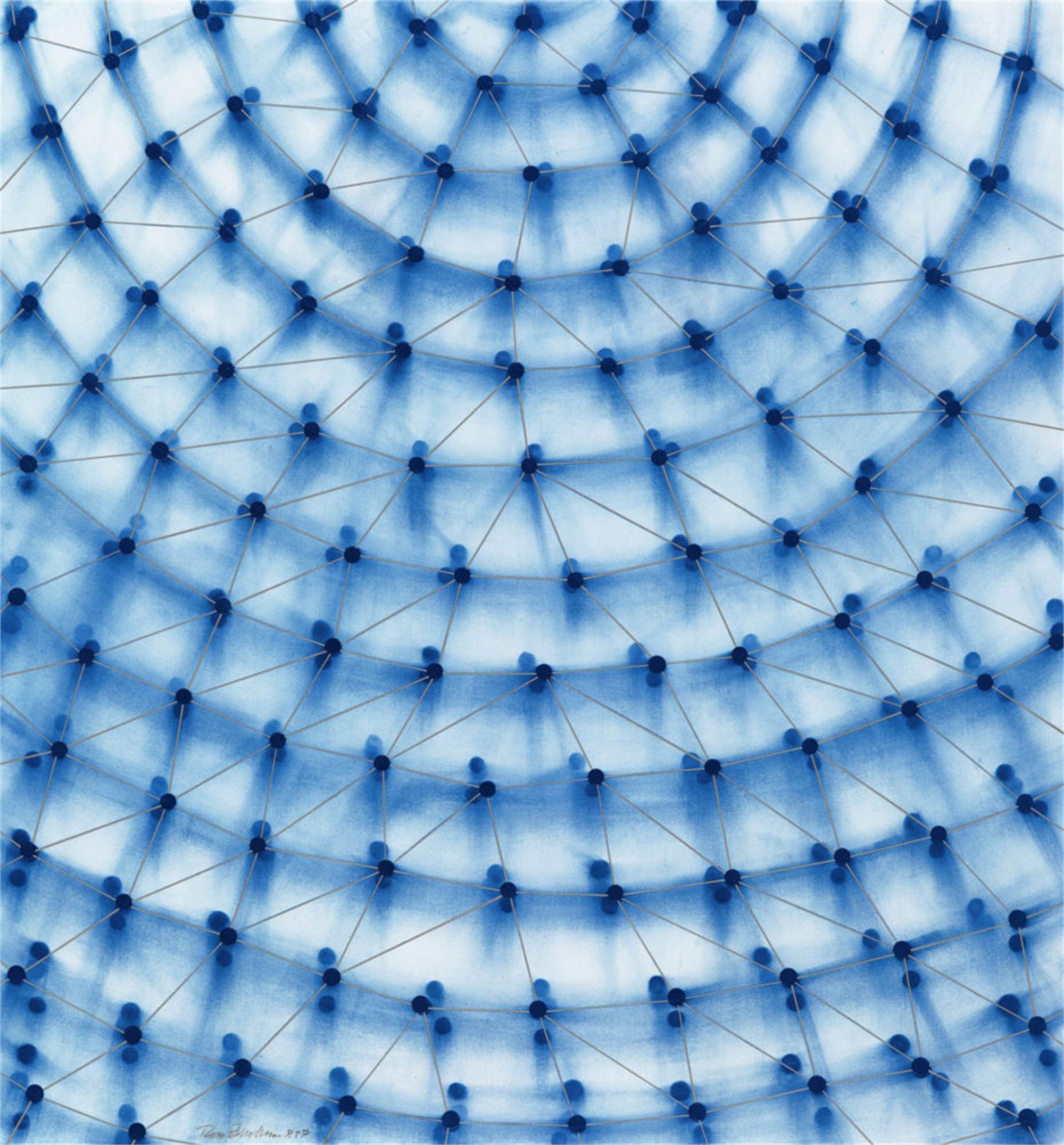 Dome (Blue) by Ross Bleckner
