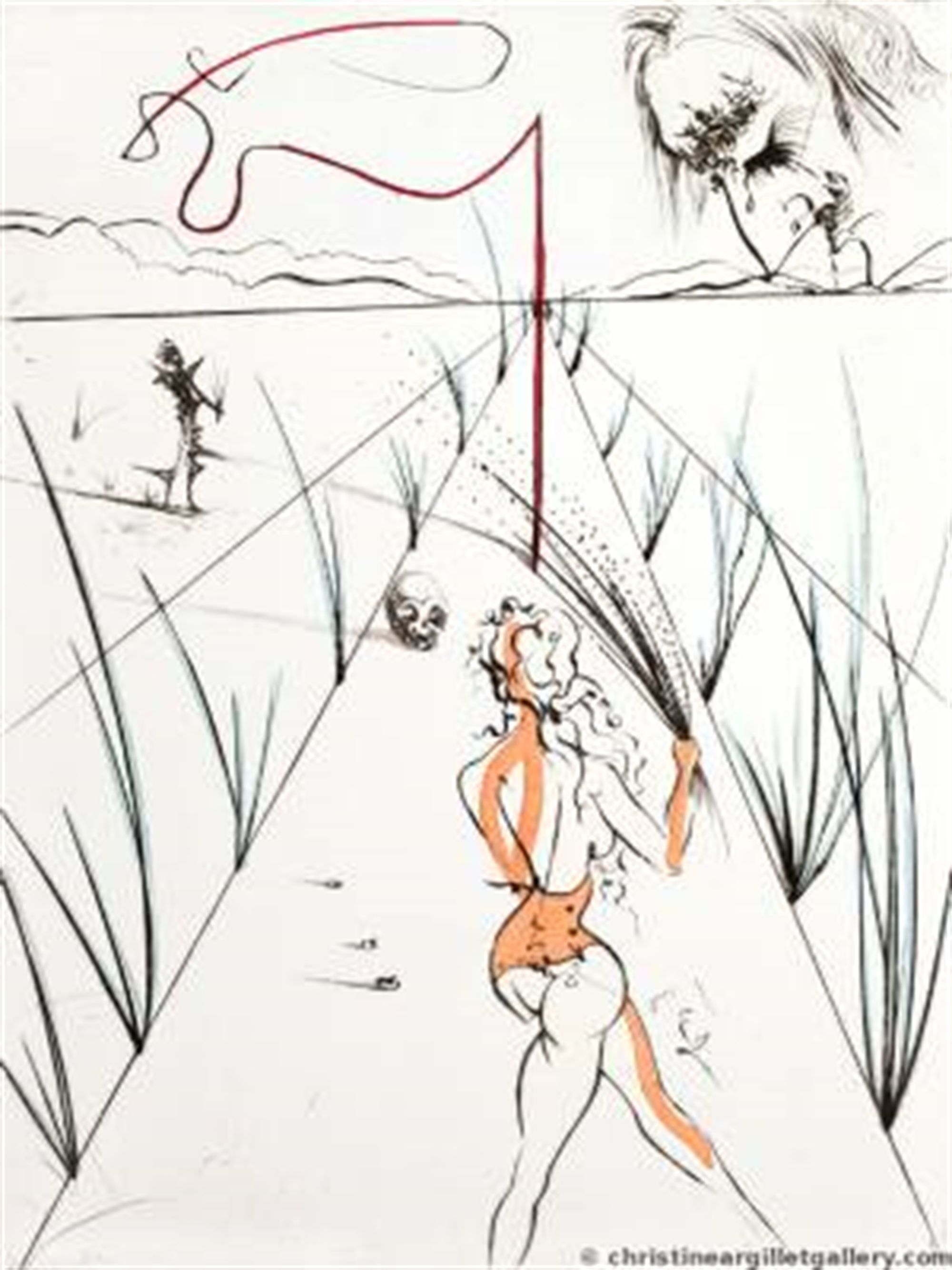 "Venus in Furs ""Whips Alley"" by Salvador Dali"