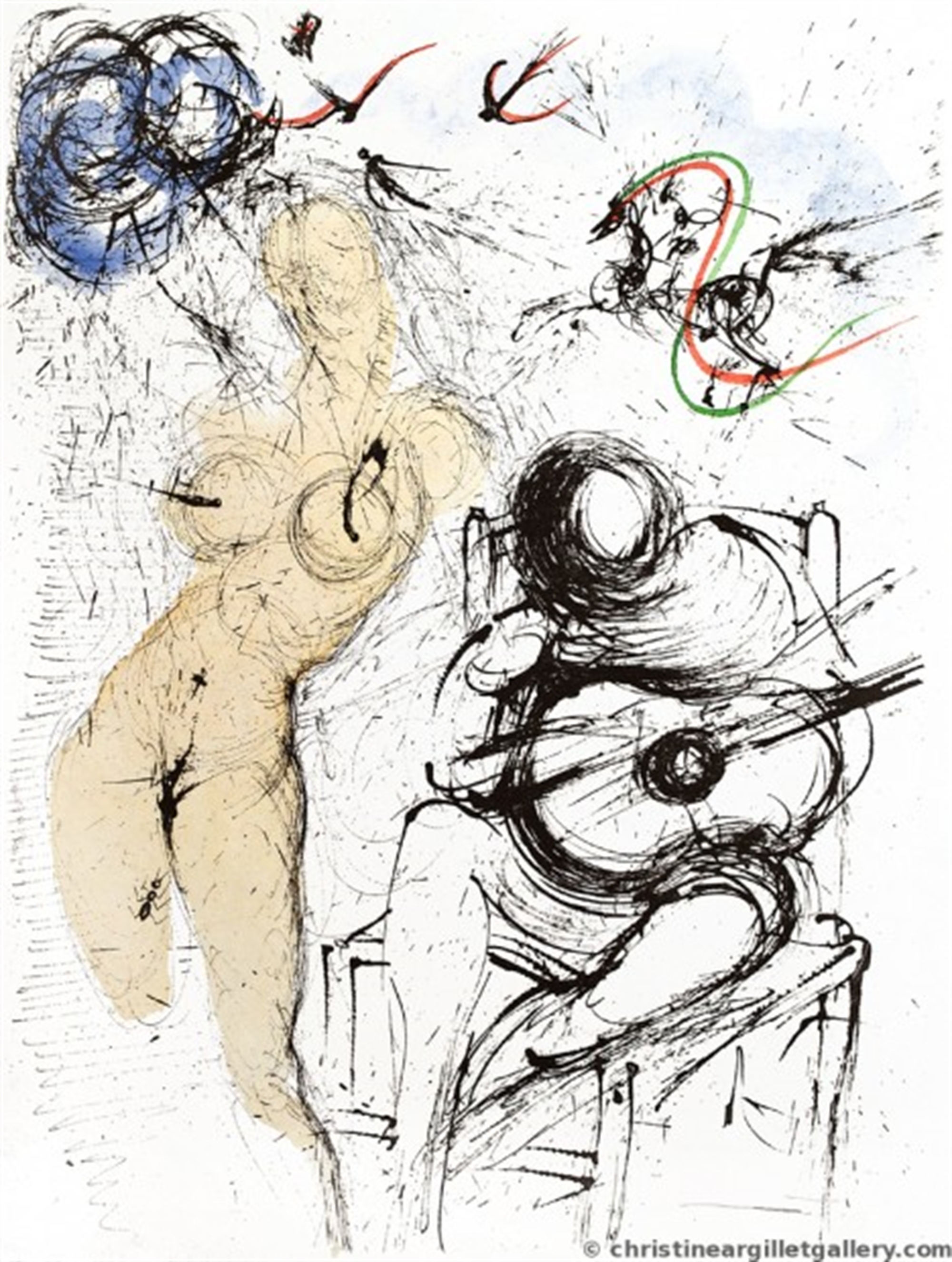 """Apollinaire """"Woman with Guitar"""" by Salvador Dali"""