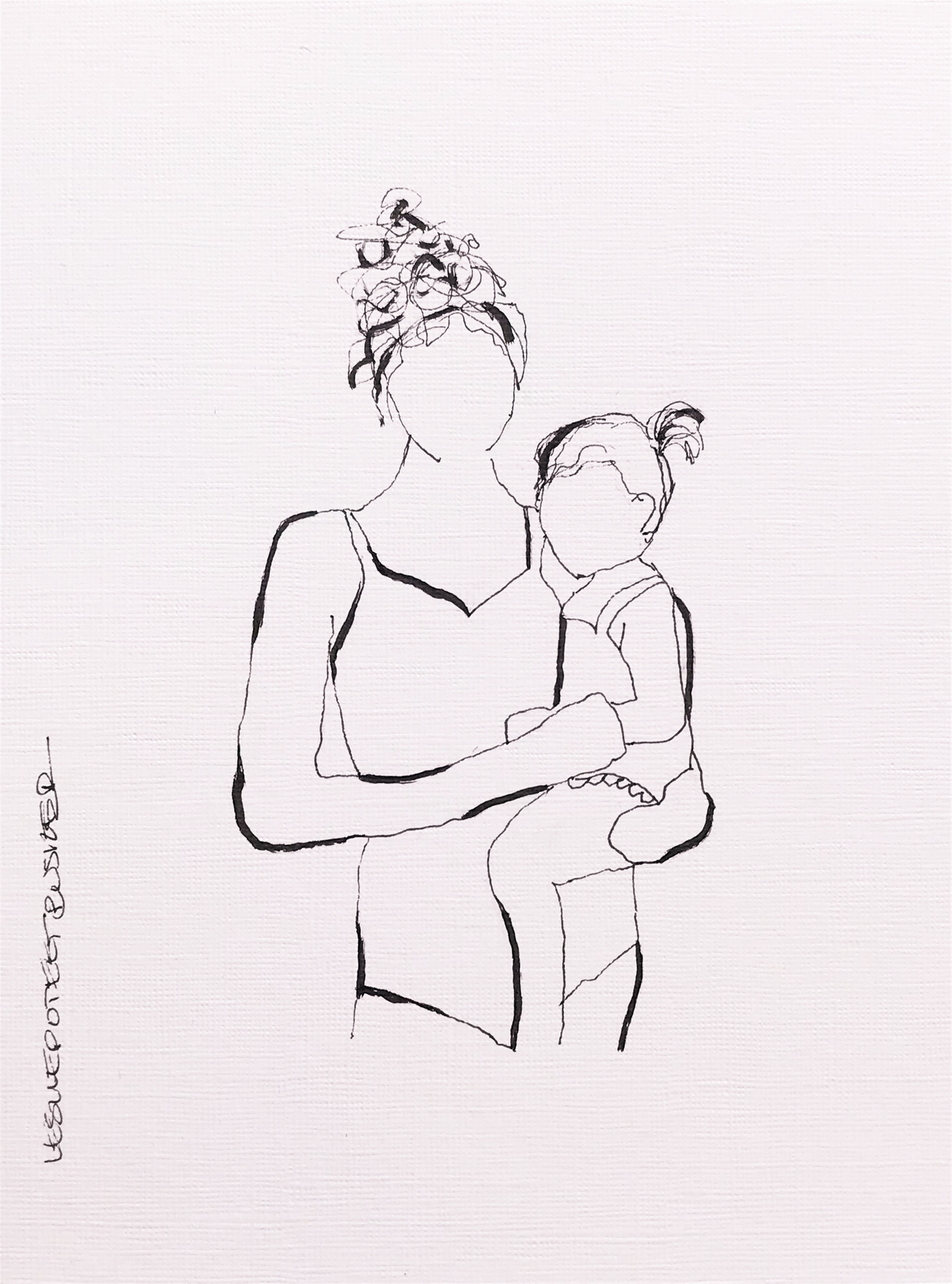 Mother and Child No. 11 by Leslie Poteet Busker