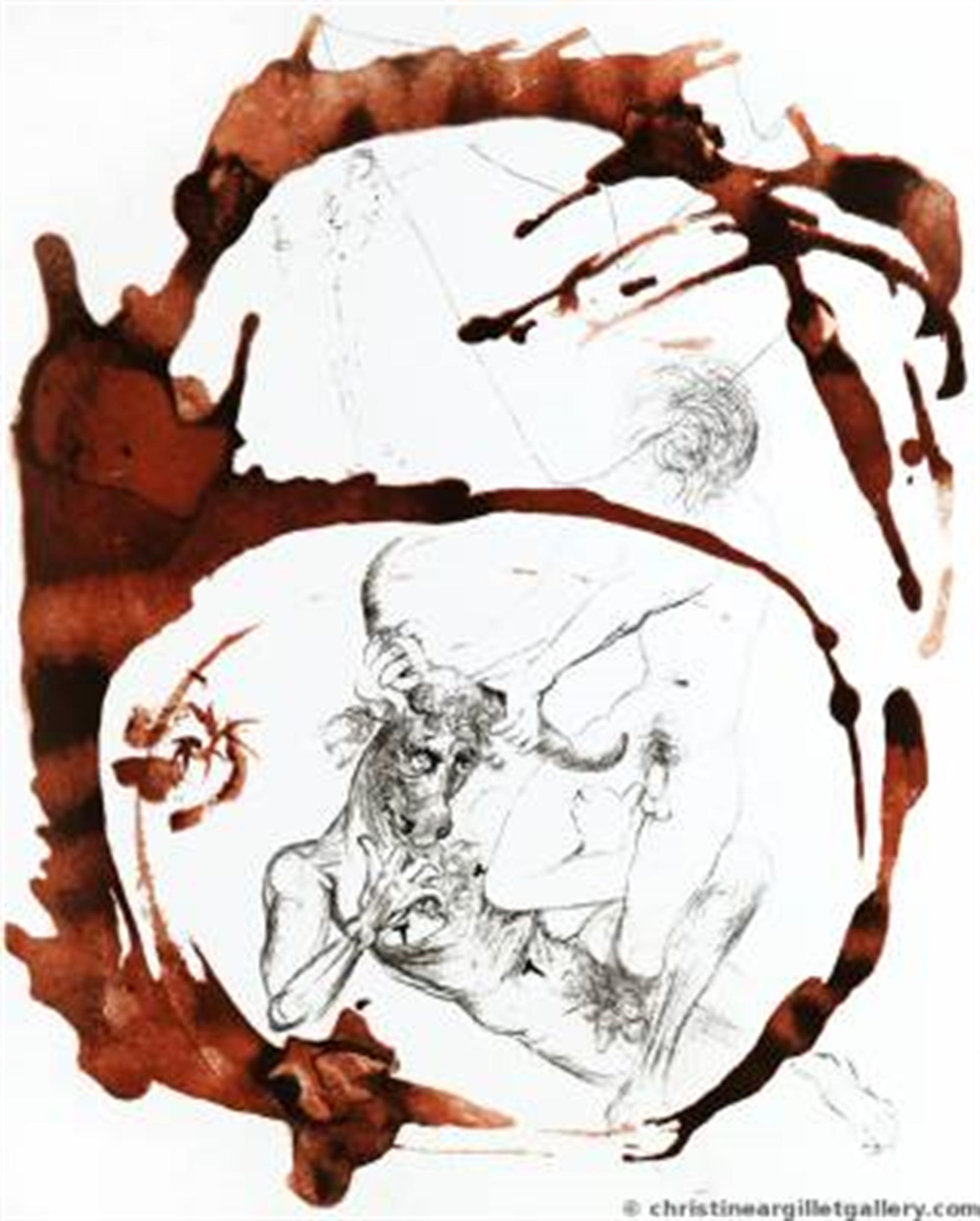 "Mythology ""Theseus & Minotaurus"" by Salvador Dali"