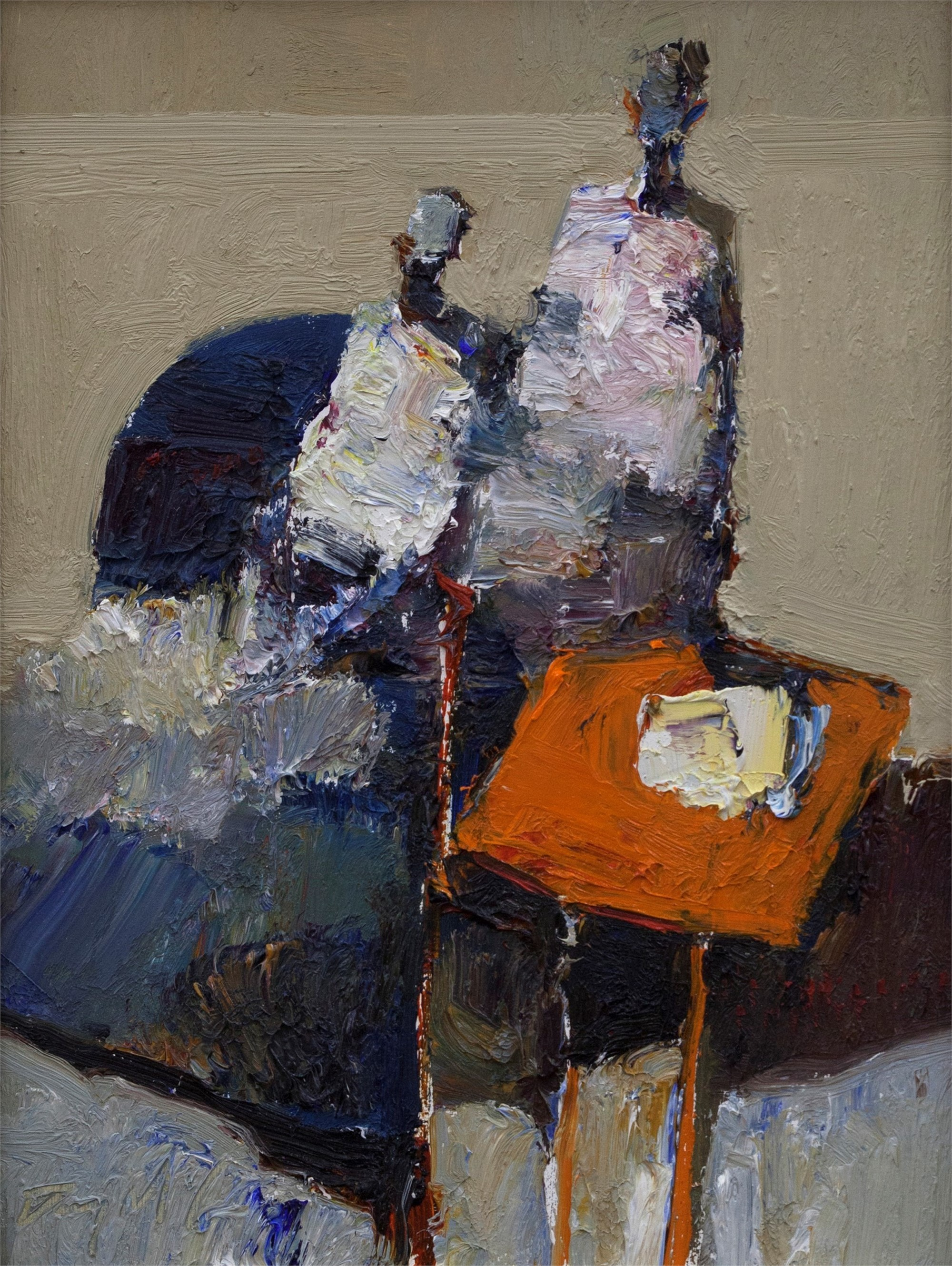 Figures with Orange Table by Danny McCaw