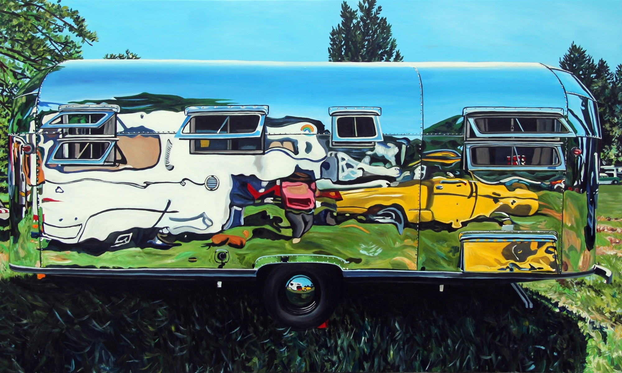 Airlight Trailer with Yellow Reflection by Taralee Guild