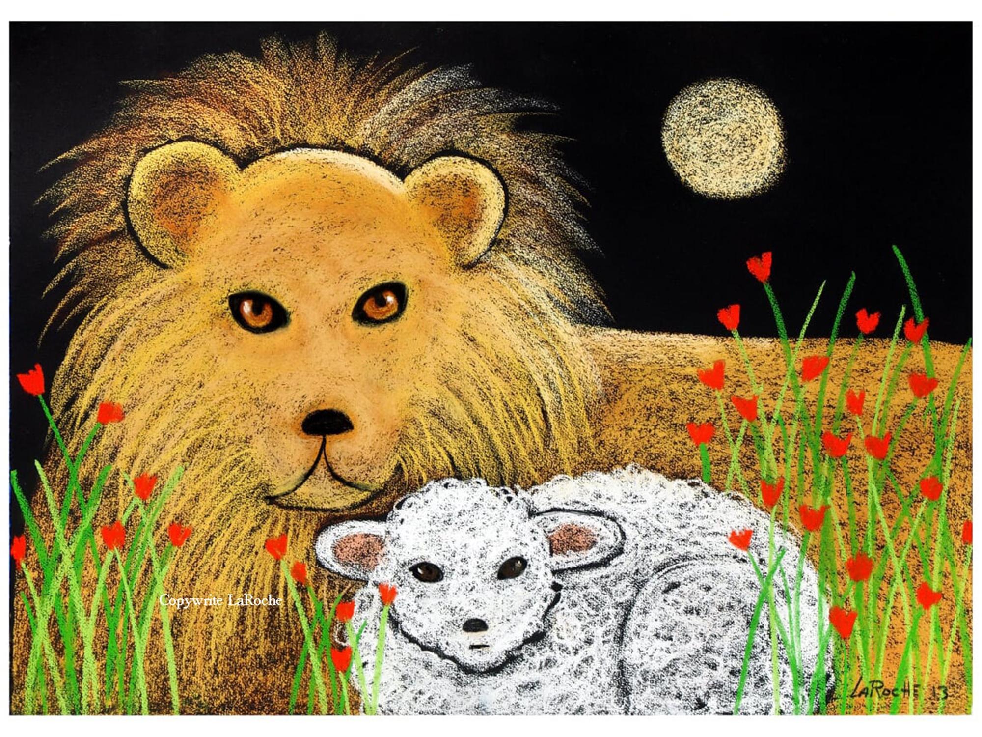 LION AND LAMB by Carole LaRoche