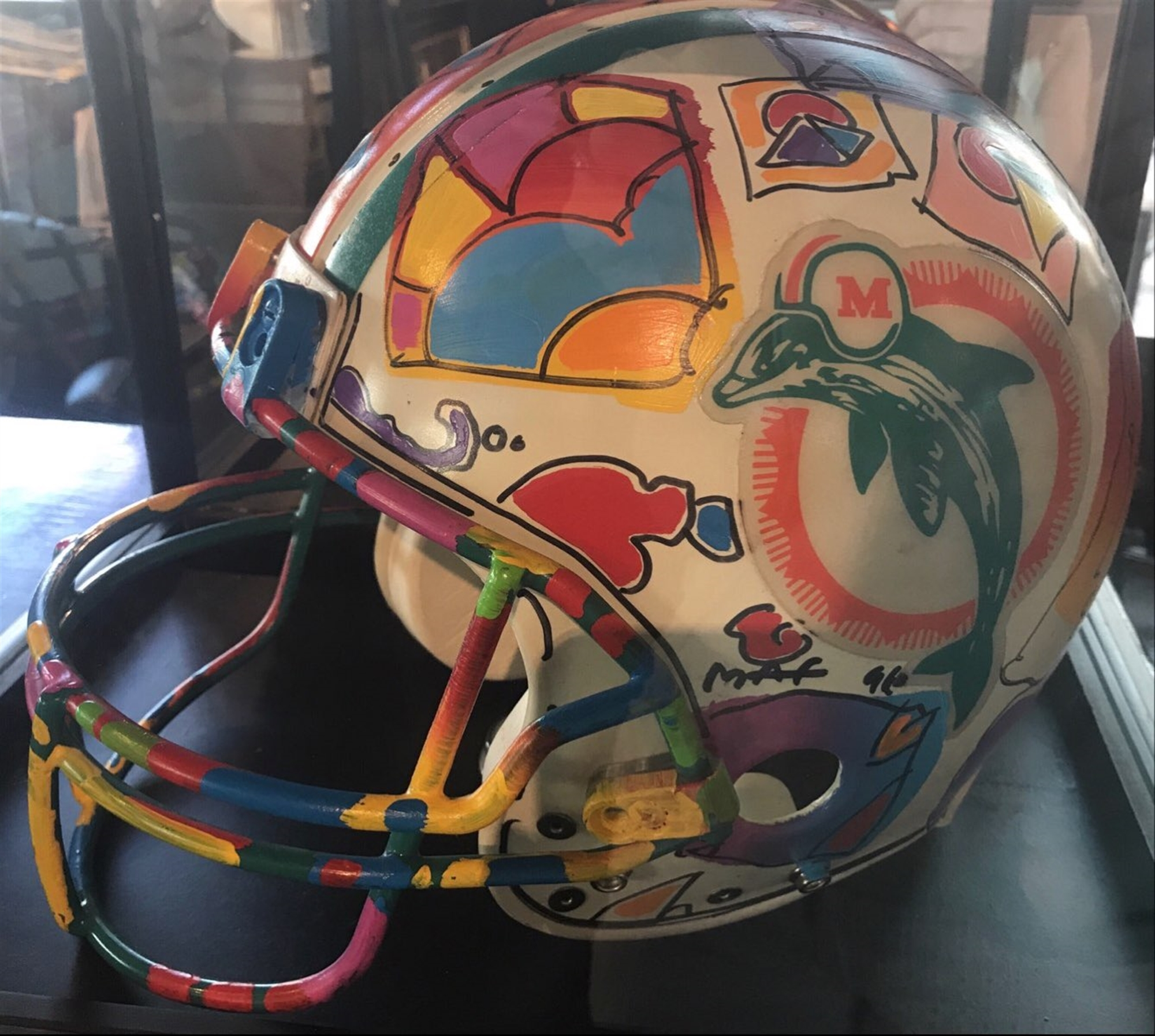 Full Size NFL Helmet- Miami Dolphins by Peter Max