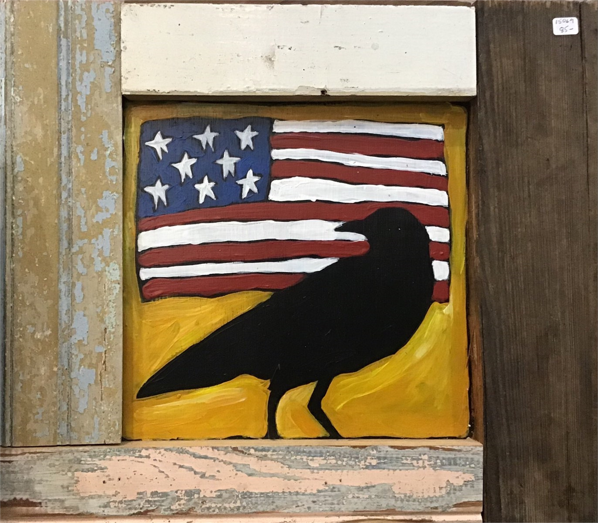 Crow with Flag by Sherry Cook