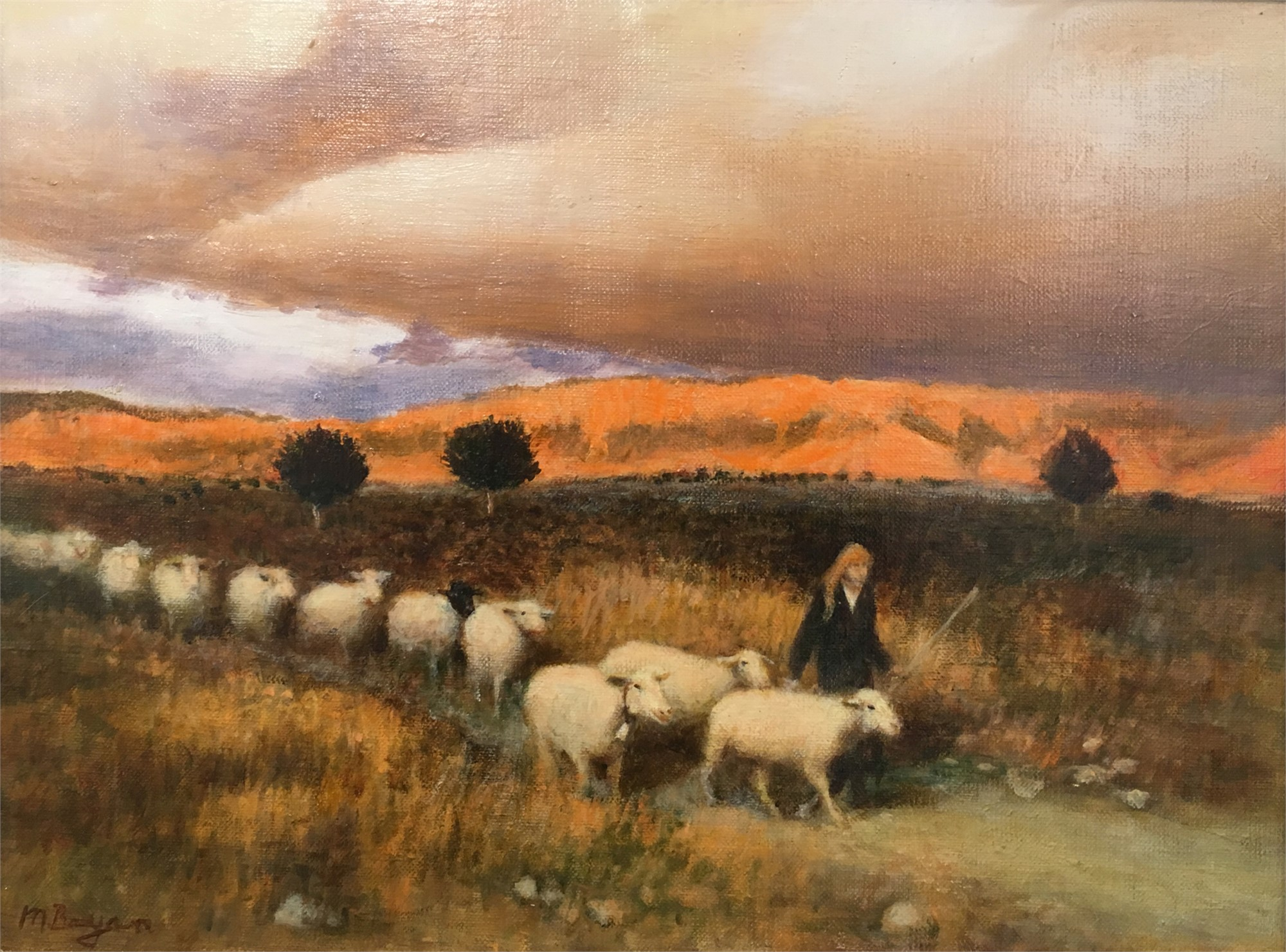 On the Way Home - Stormy Sunset by Malcolm Bryan