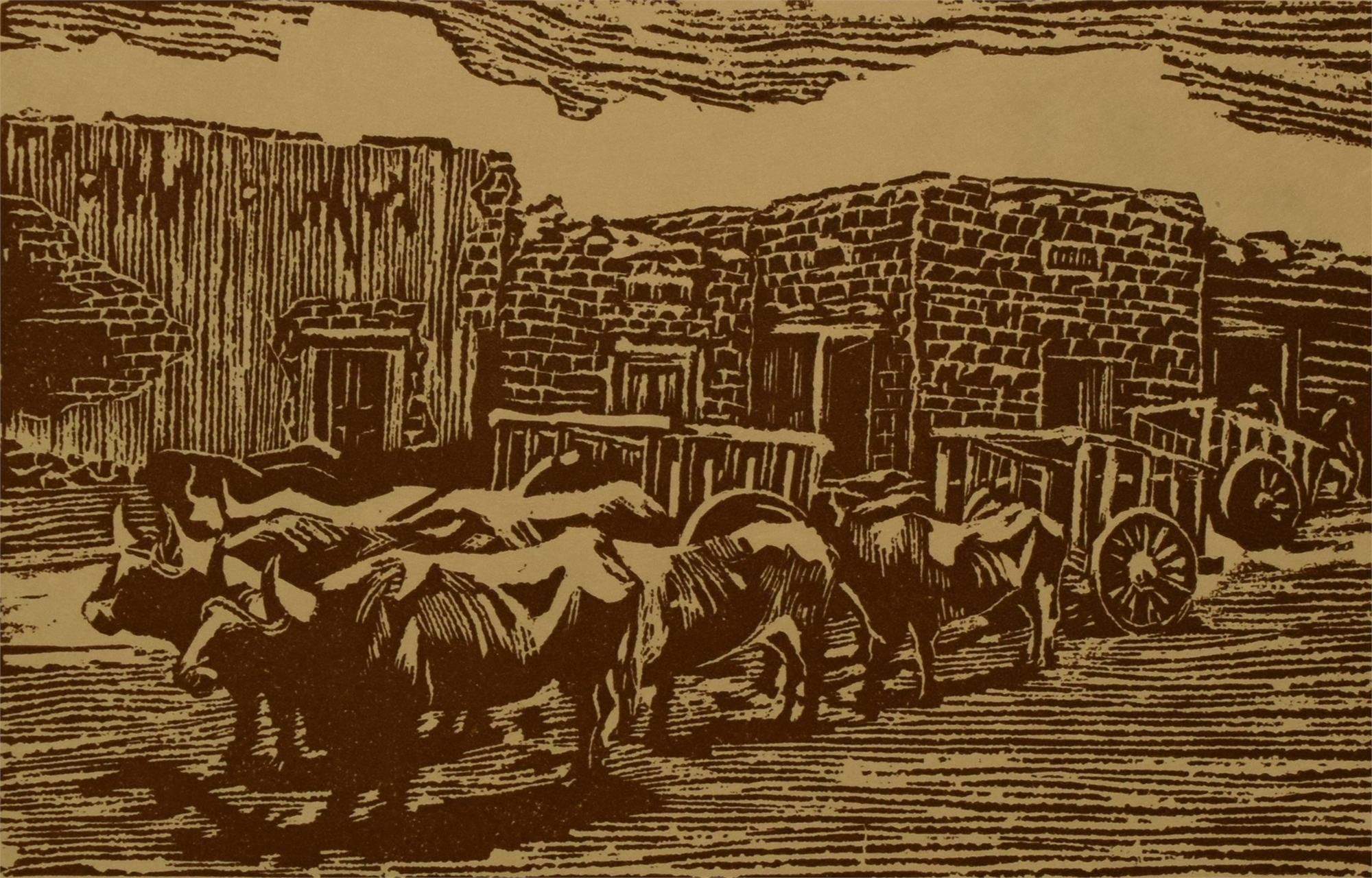 Oxen and Carts by Anna Keener