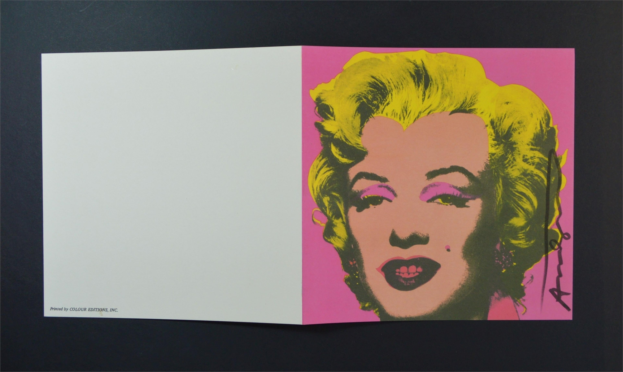Marilyn (Announcement) by Andy Warhol