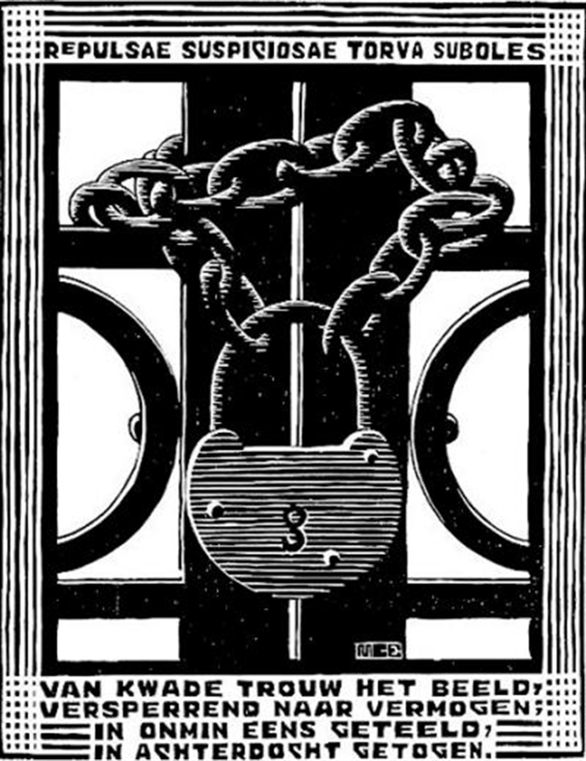 Emblemata - Padlock by M.C. Escher