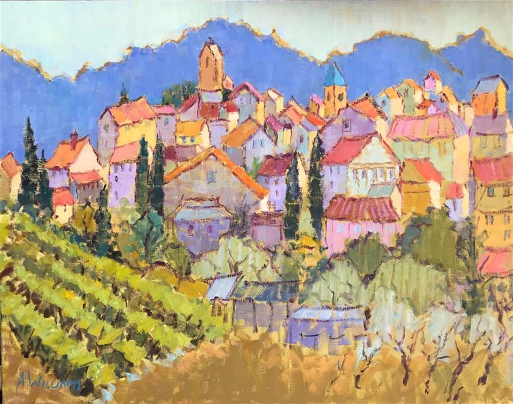 Lourmarin in the Morning by Alice Williams