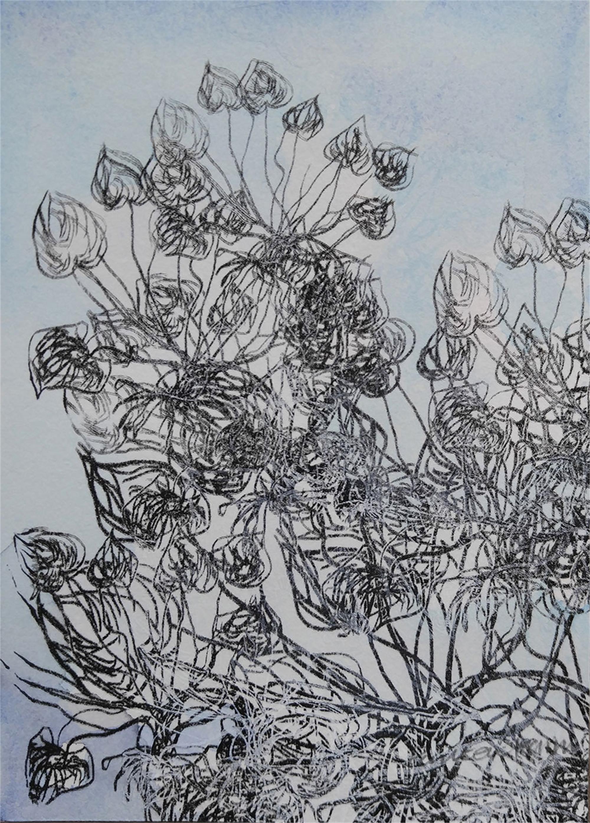 Blue Garden iii by Pantea Kharimi