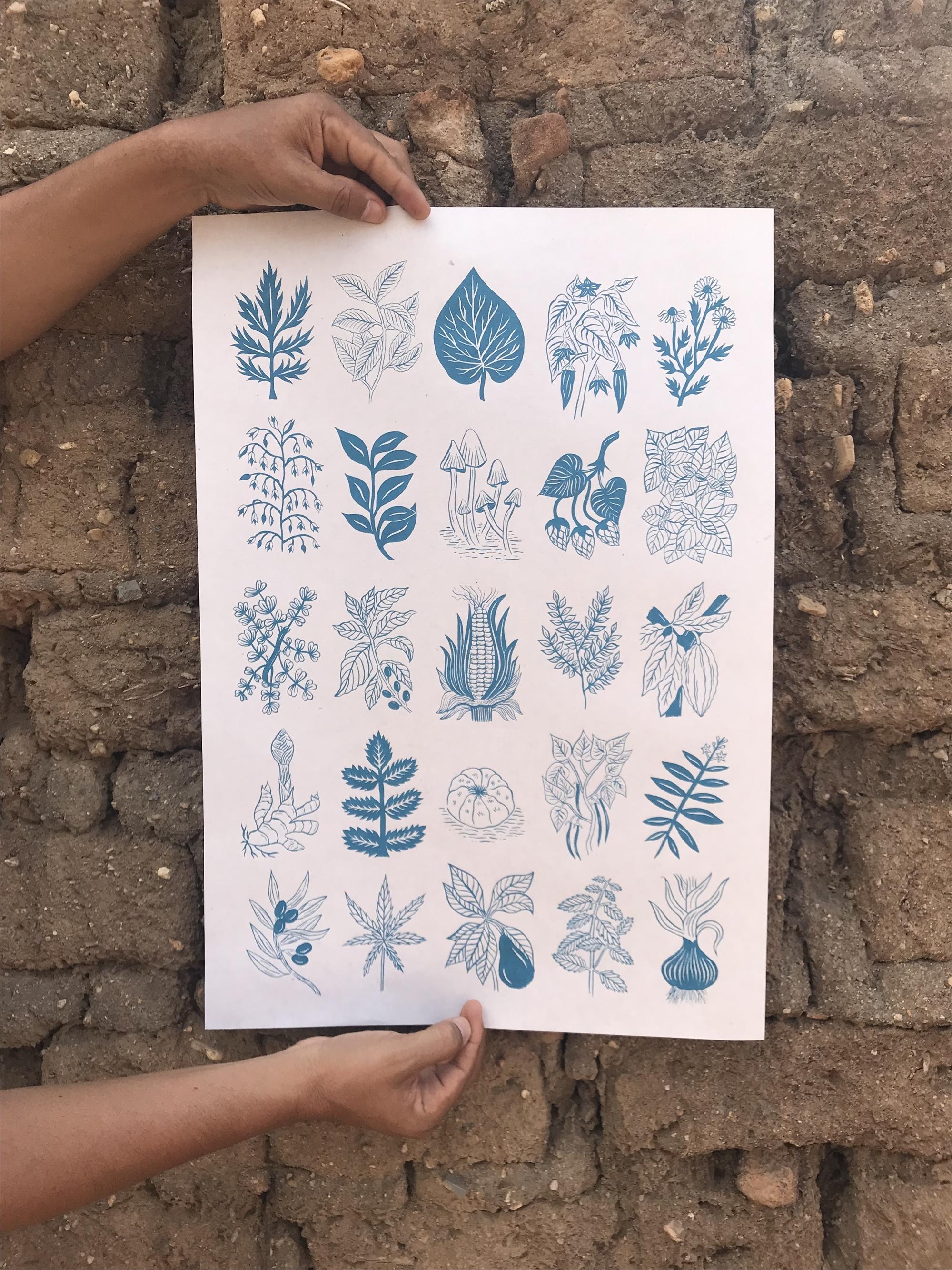 Sabiduría Salvaje (Wild Wisdom, Blue) by Mirel Fraga
