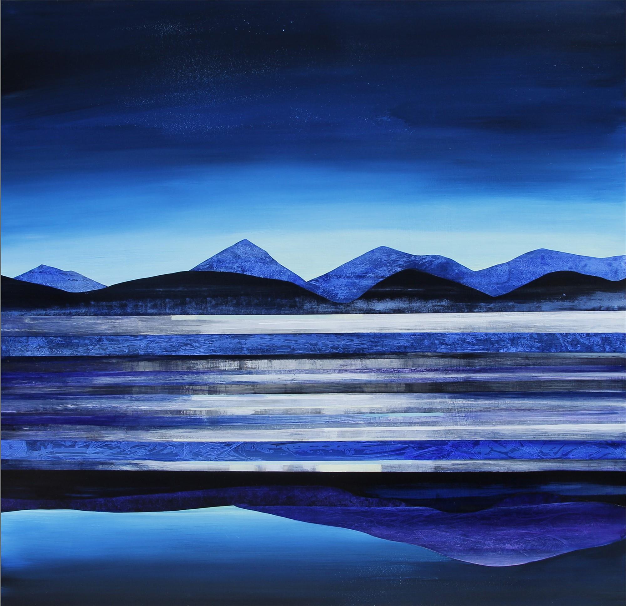Pale Moon Rising, Collegiate Peaks by Sarah Winkler