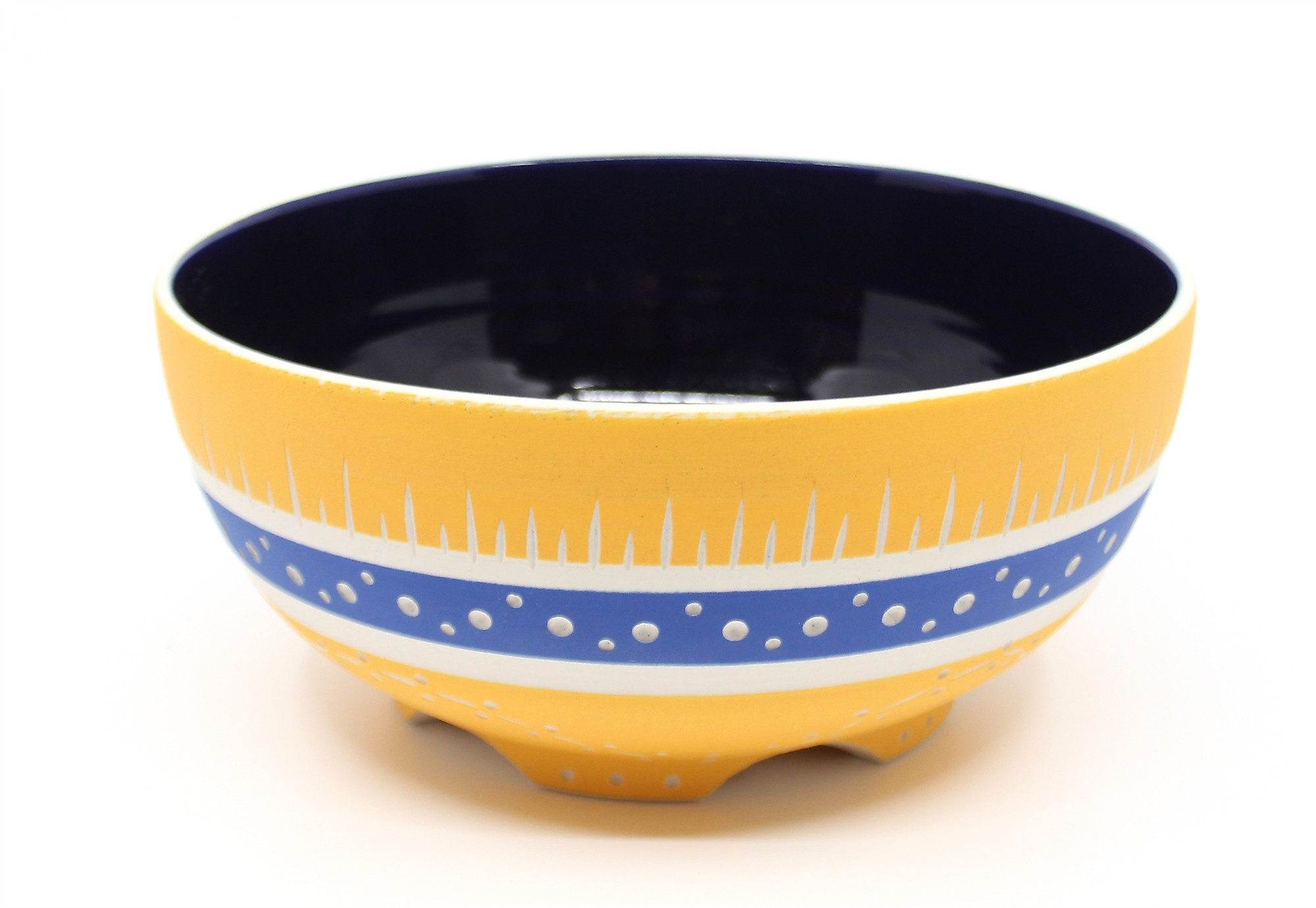 Tangerine & Blue Bowl by Chris Casey