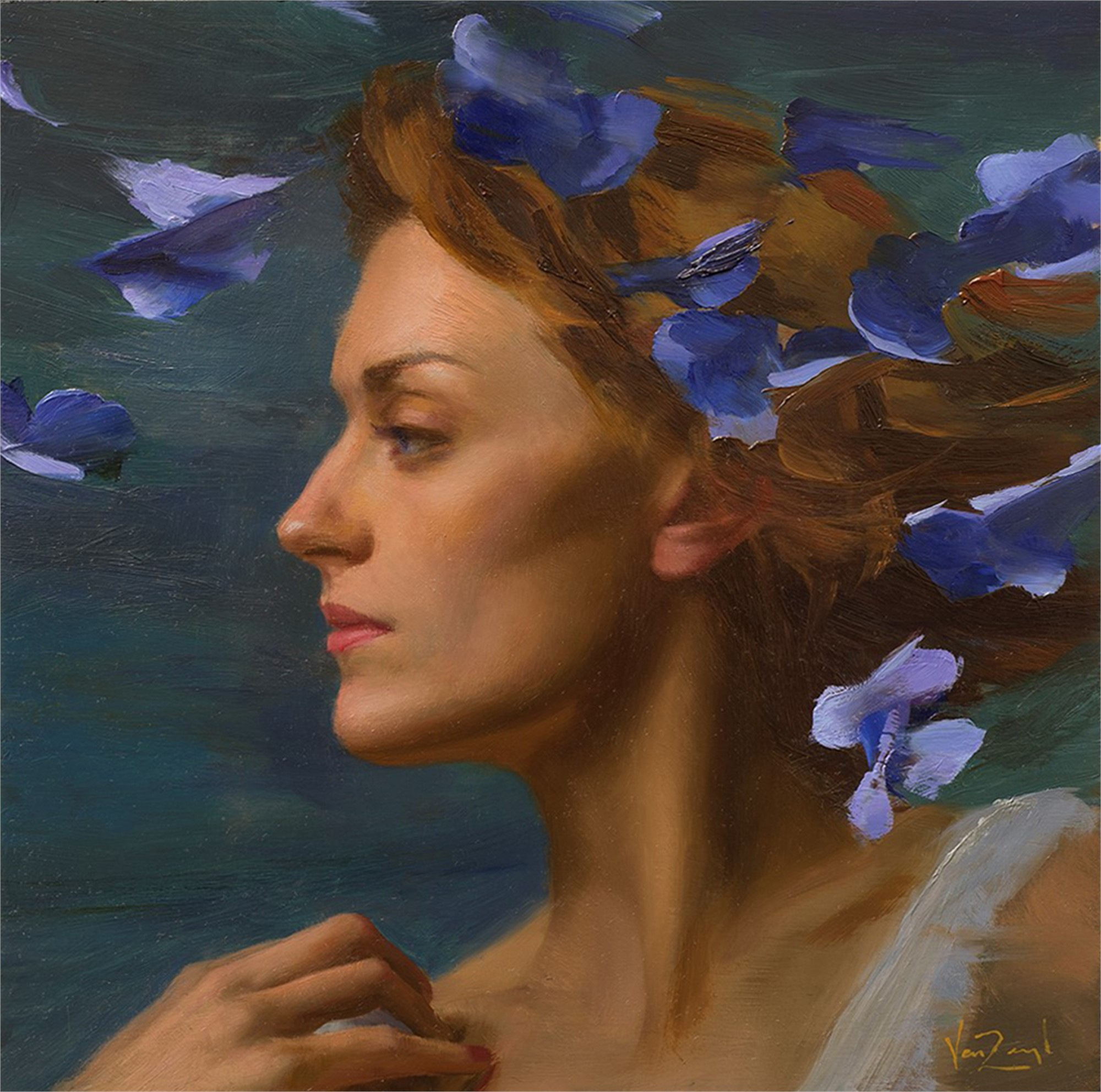 Kelsey in Blue by Michael Van Zeyl