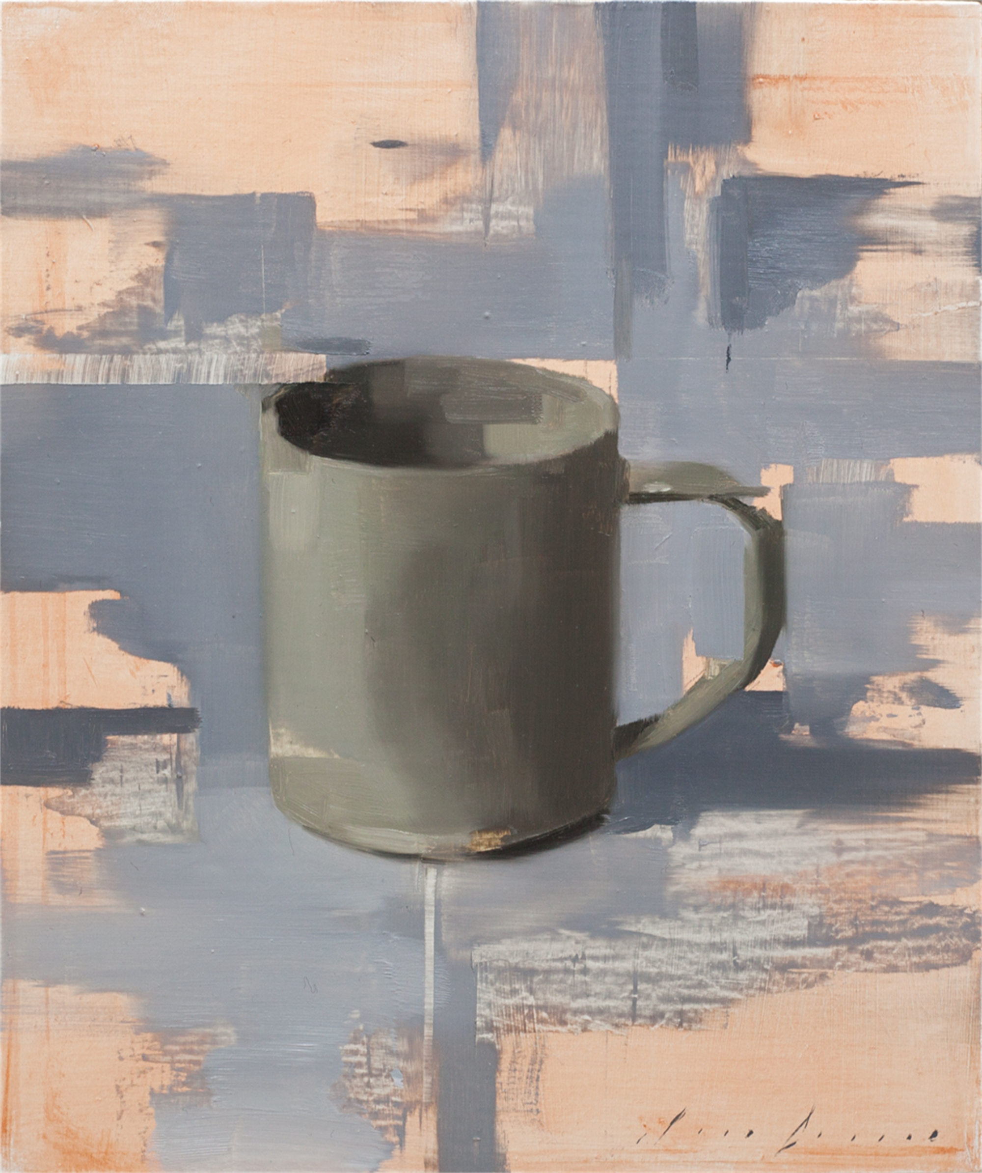 Dark Cup on Grey by Jon Doran