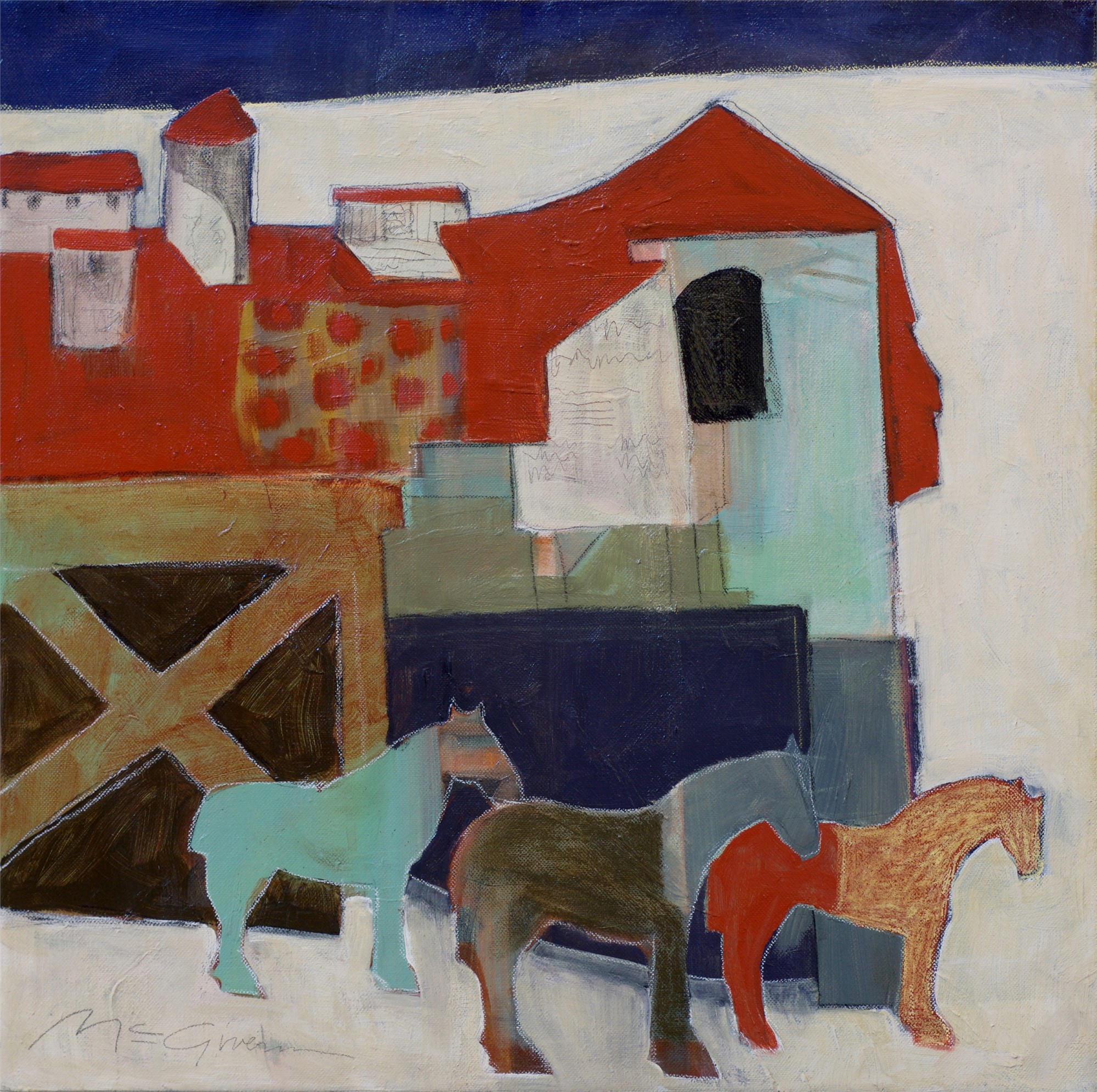 3 Horses by Peggy McGivern