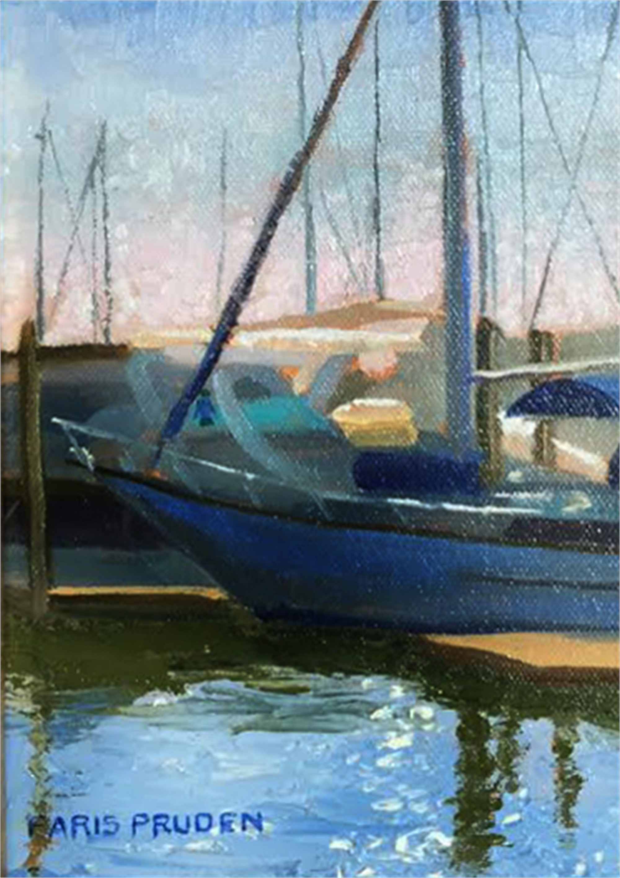 Morning In The Marina by Nancy Paris Pruden