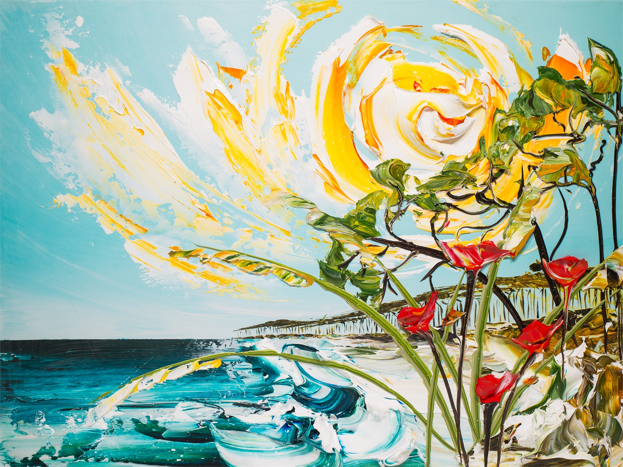 HANNAH MARTIN'S PARTY 40X30 SEASCAPE by Justin Gaffrey