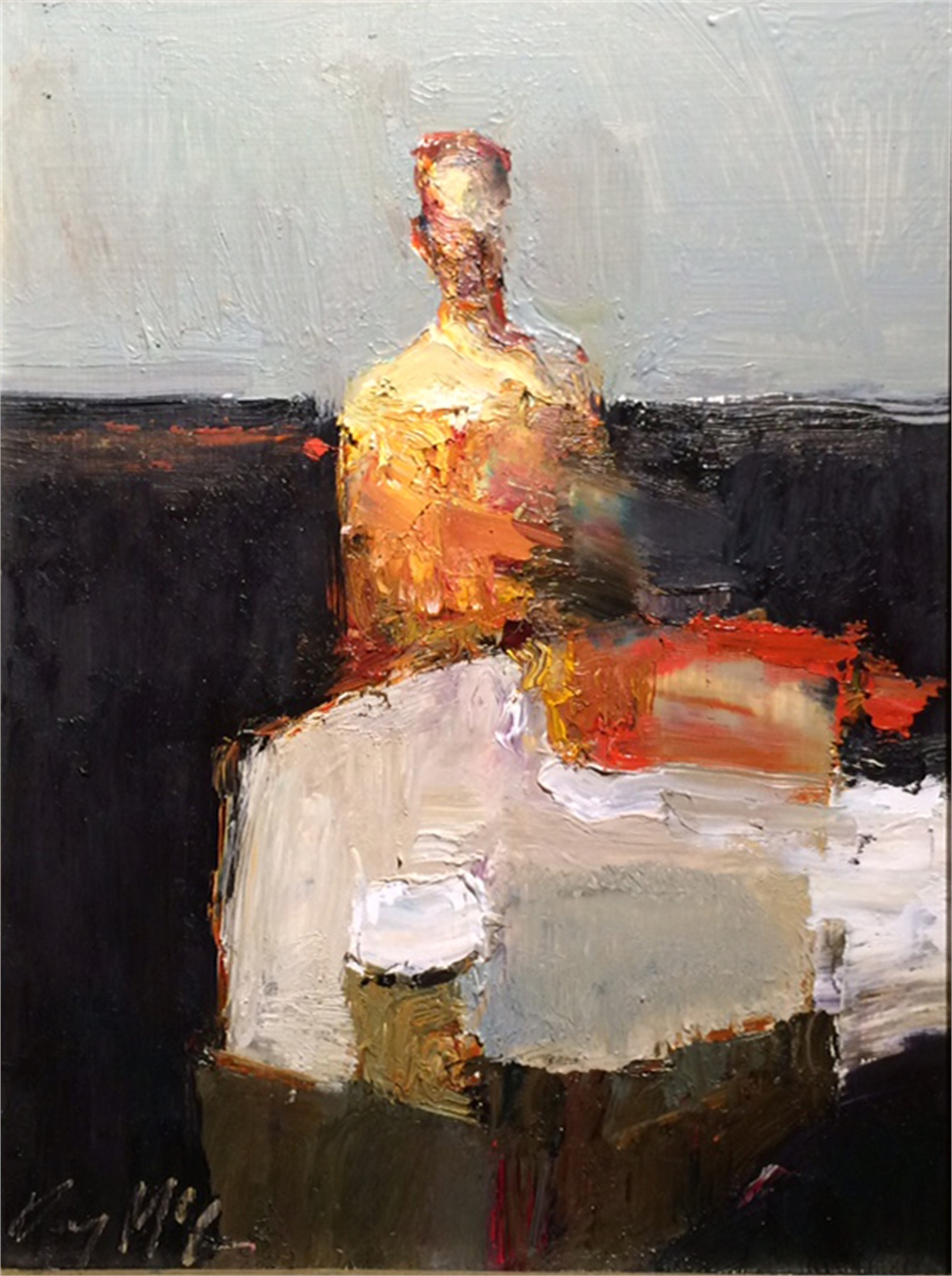 Figure at Table by Danny McCaw