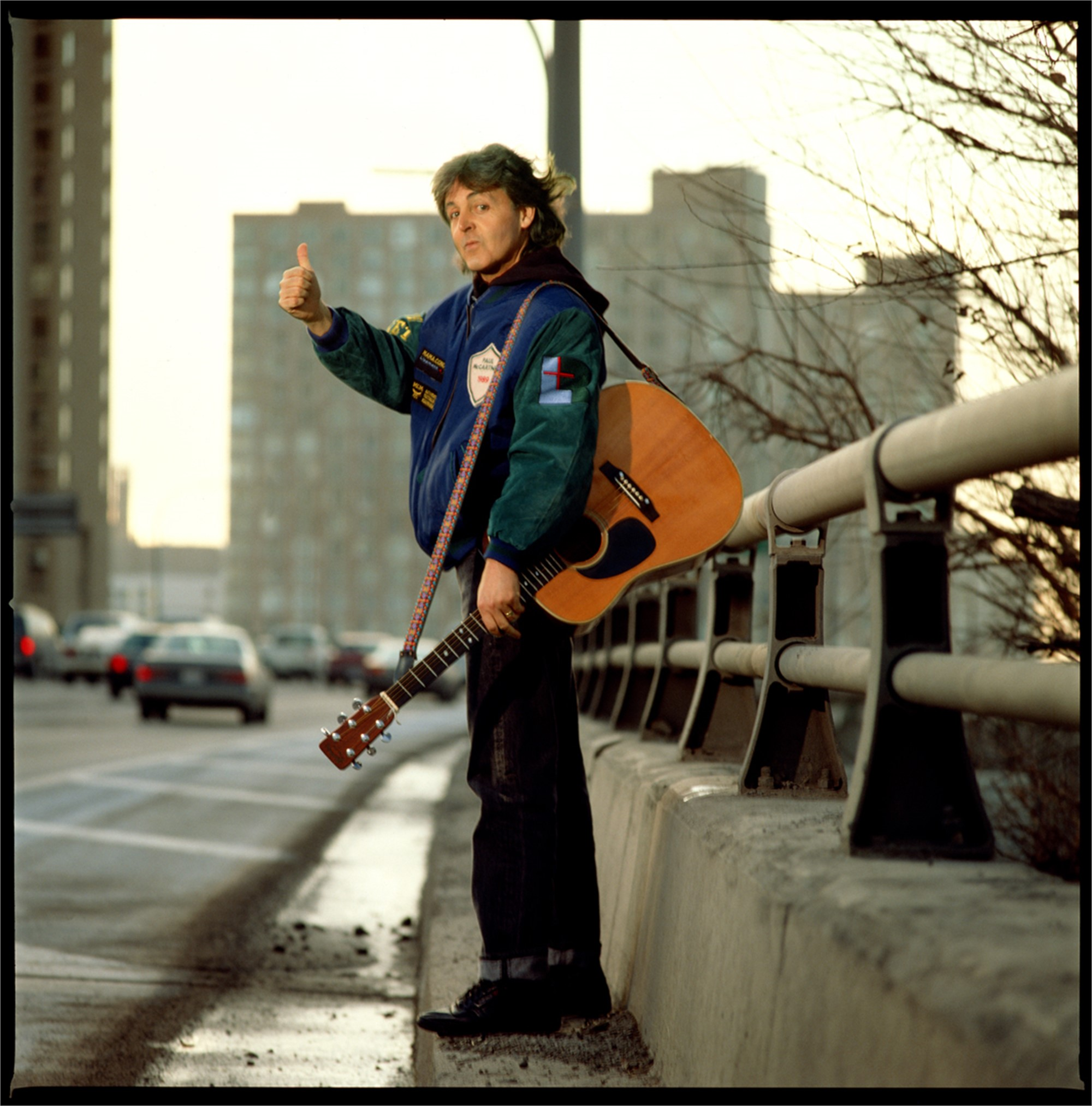 89194 Paul McCartney Paul on the Highway Color by Timothy White