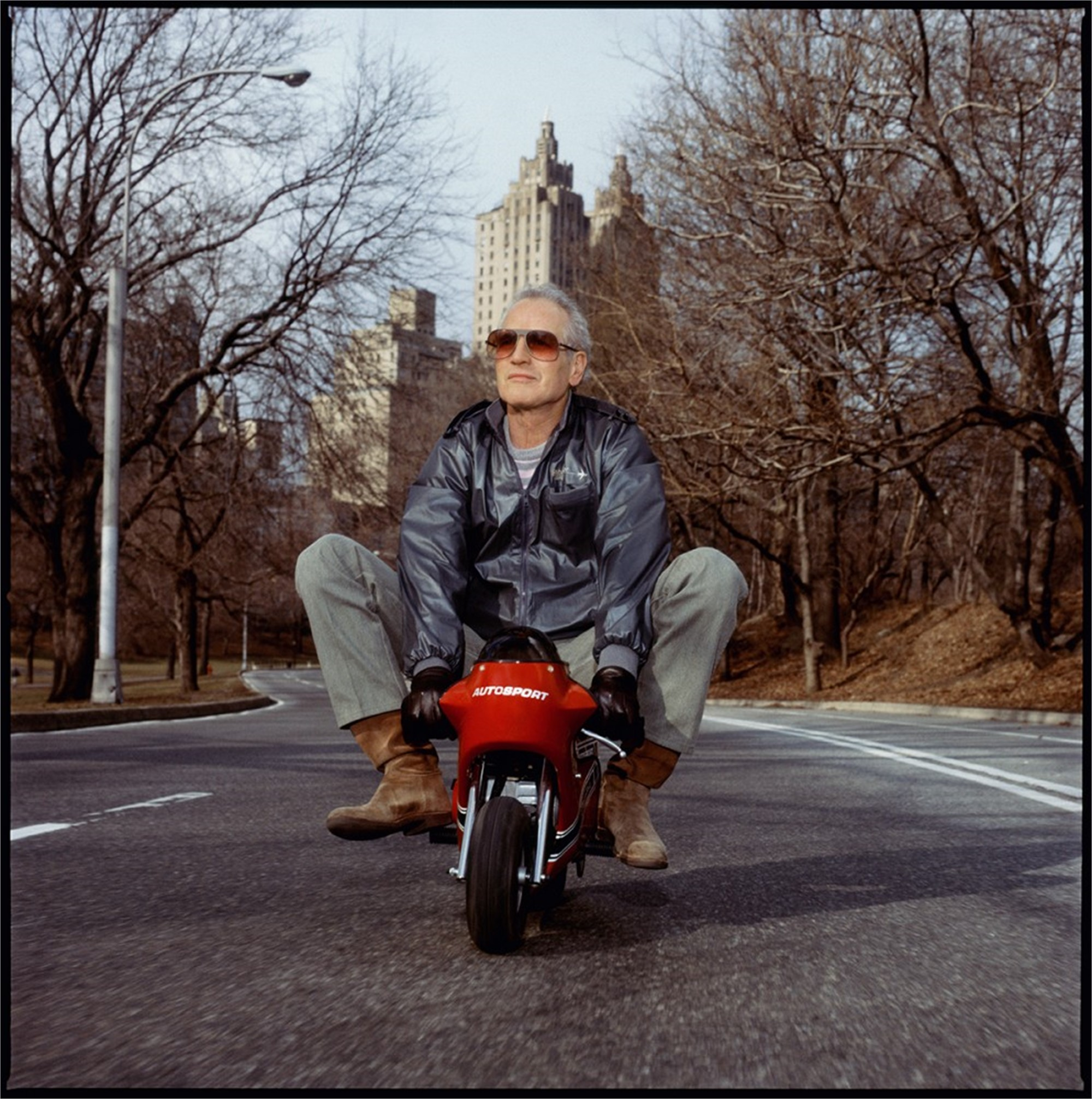 88031 Paul Newman Mini Bike Color by Timothy White