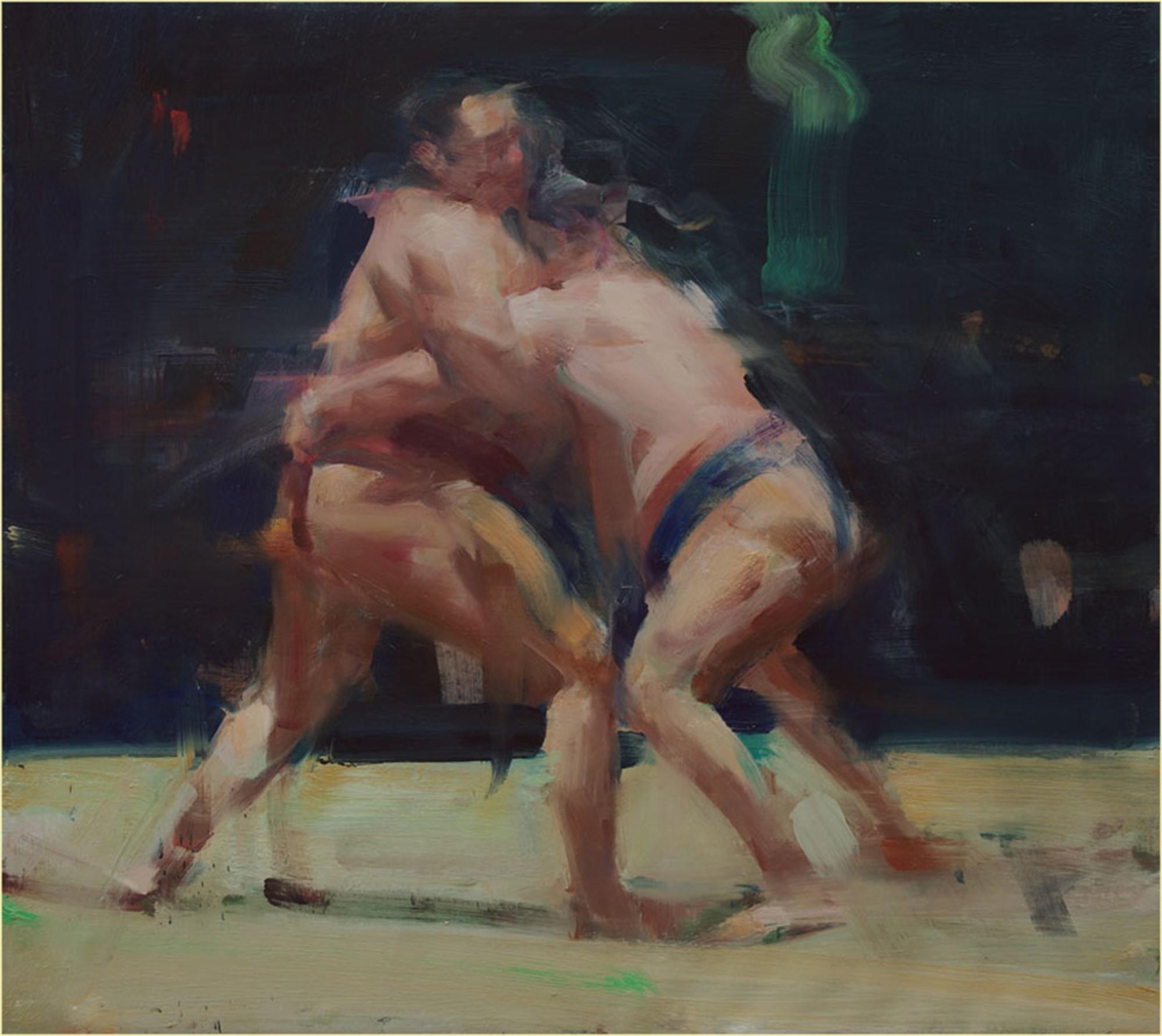 Two Wrestlers by David Shevlino