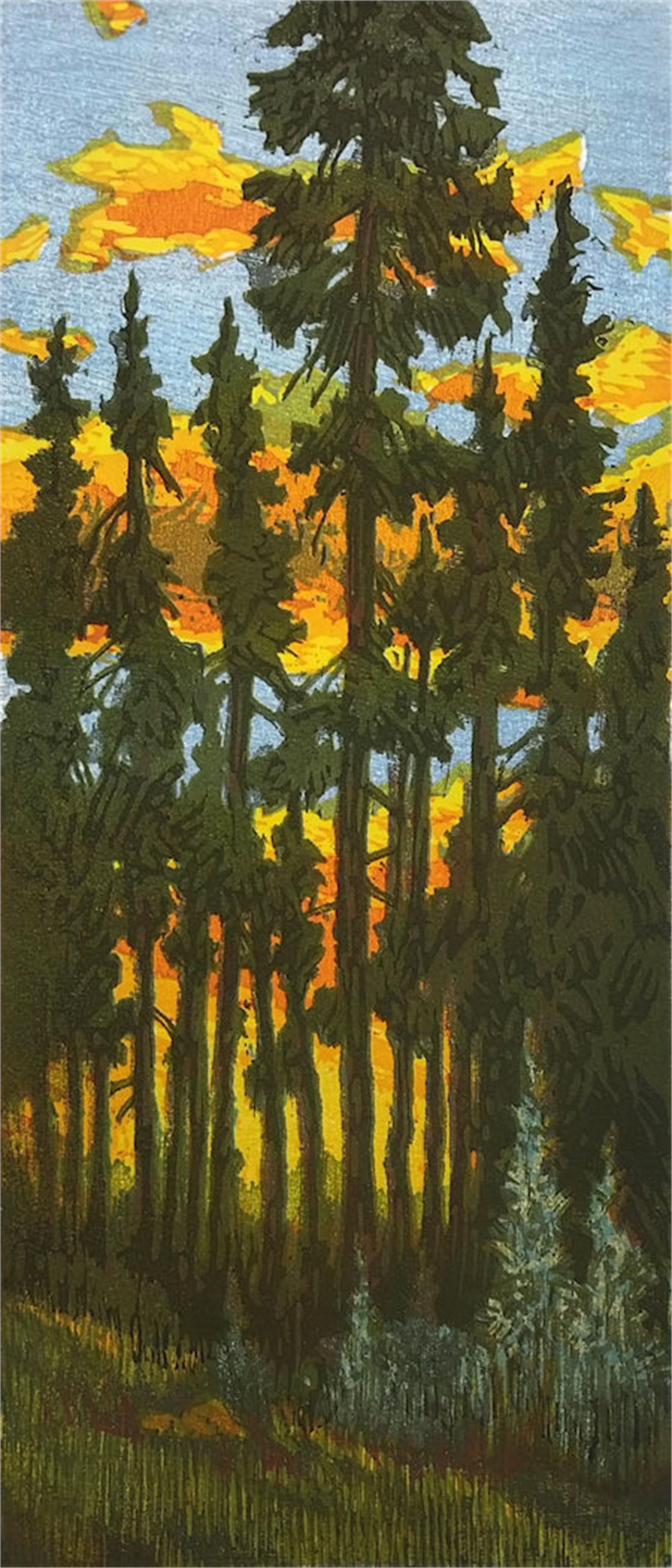 Lodgepole Sunset by Leon Loughridge