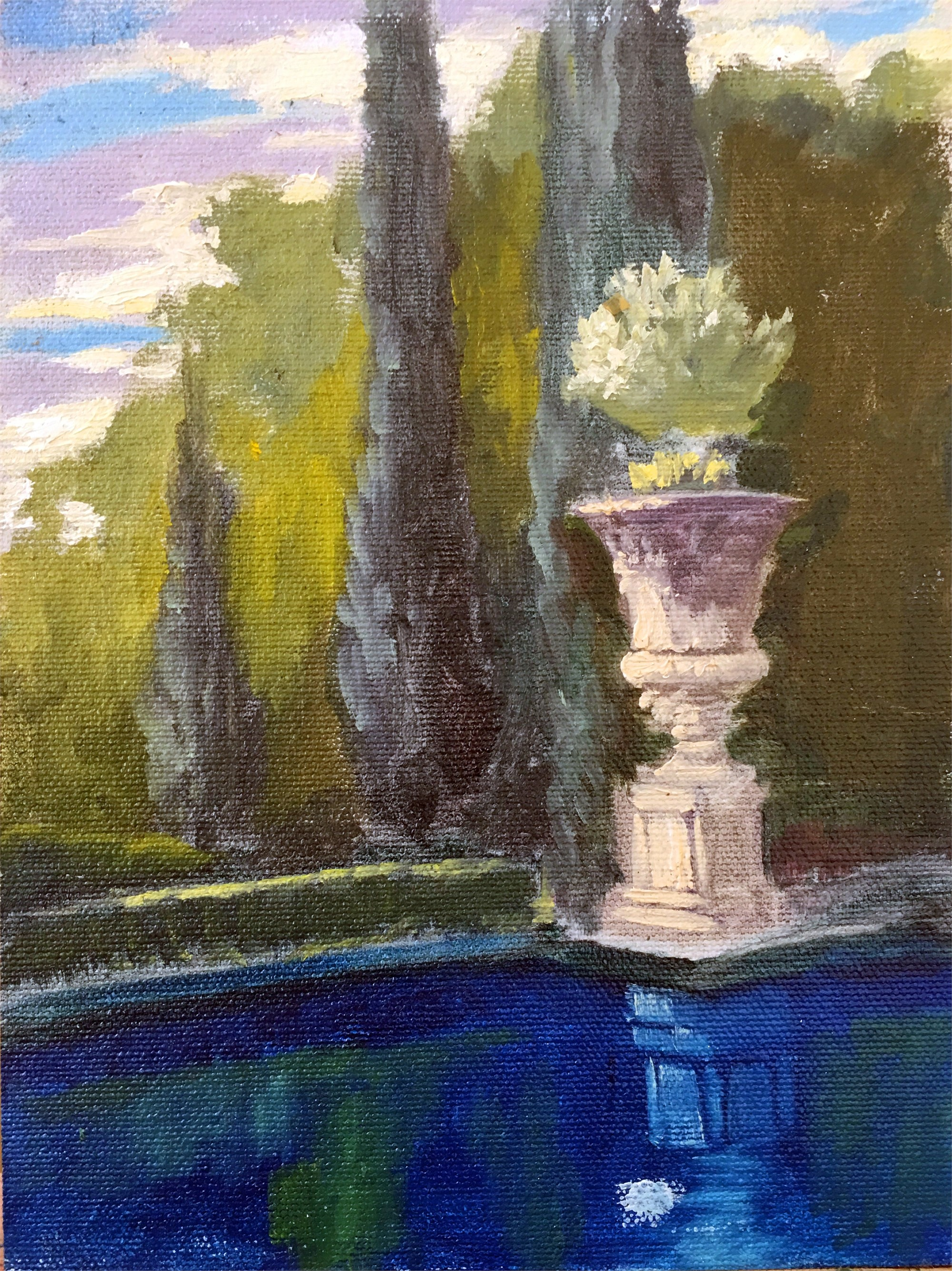 By the Pool, Provence, 2017 by Nancy Paris Pruden