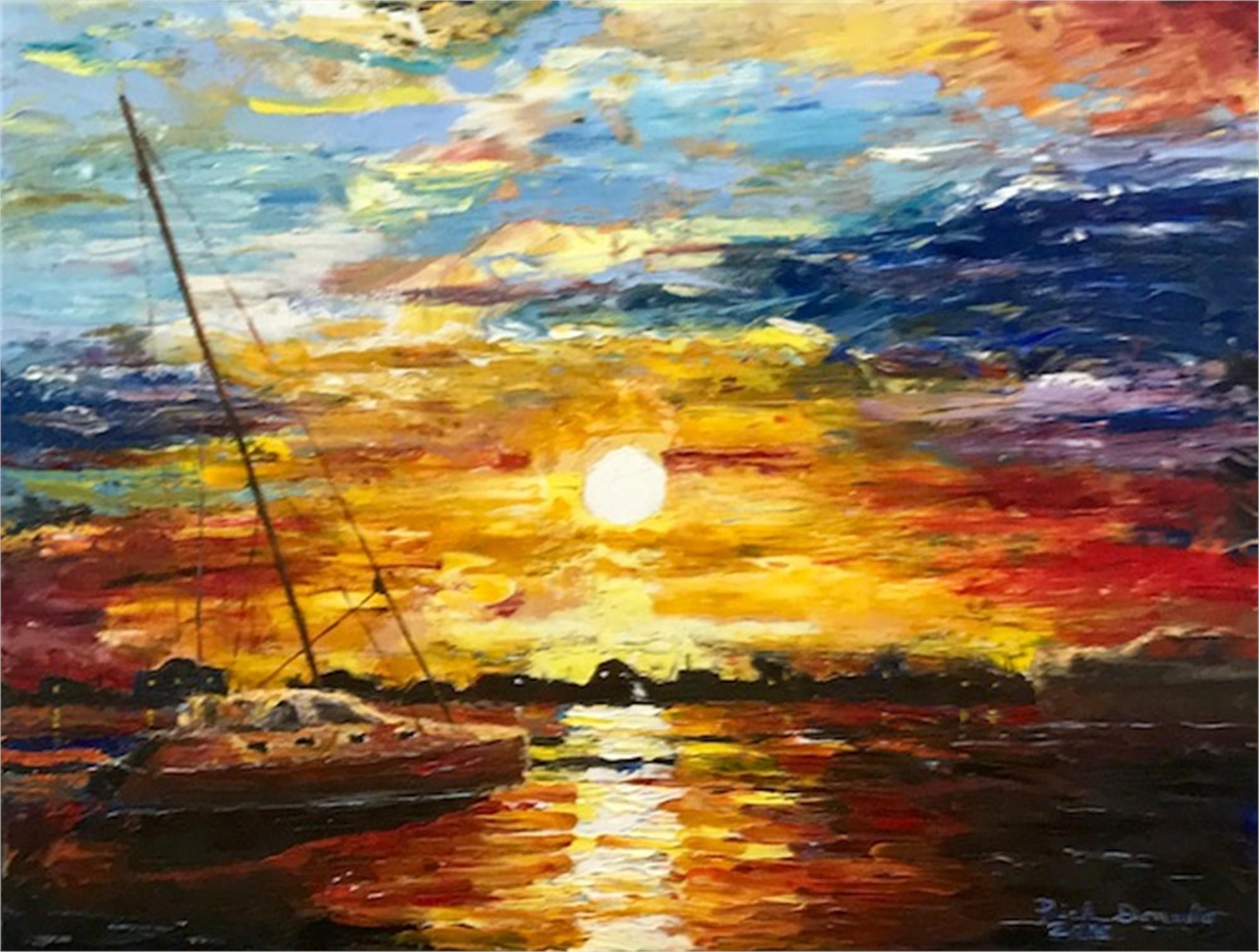 Sunset Over Charlston Harbor, 2018 by Richard Donadio