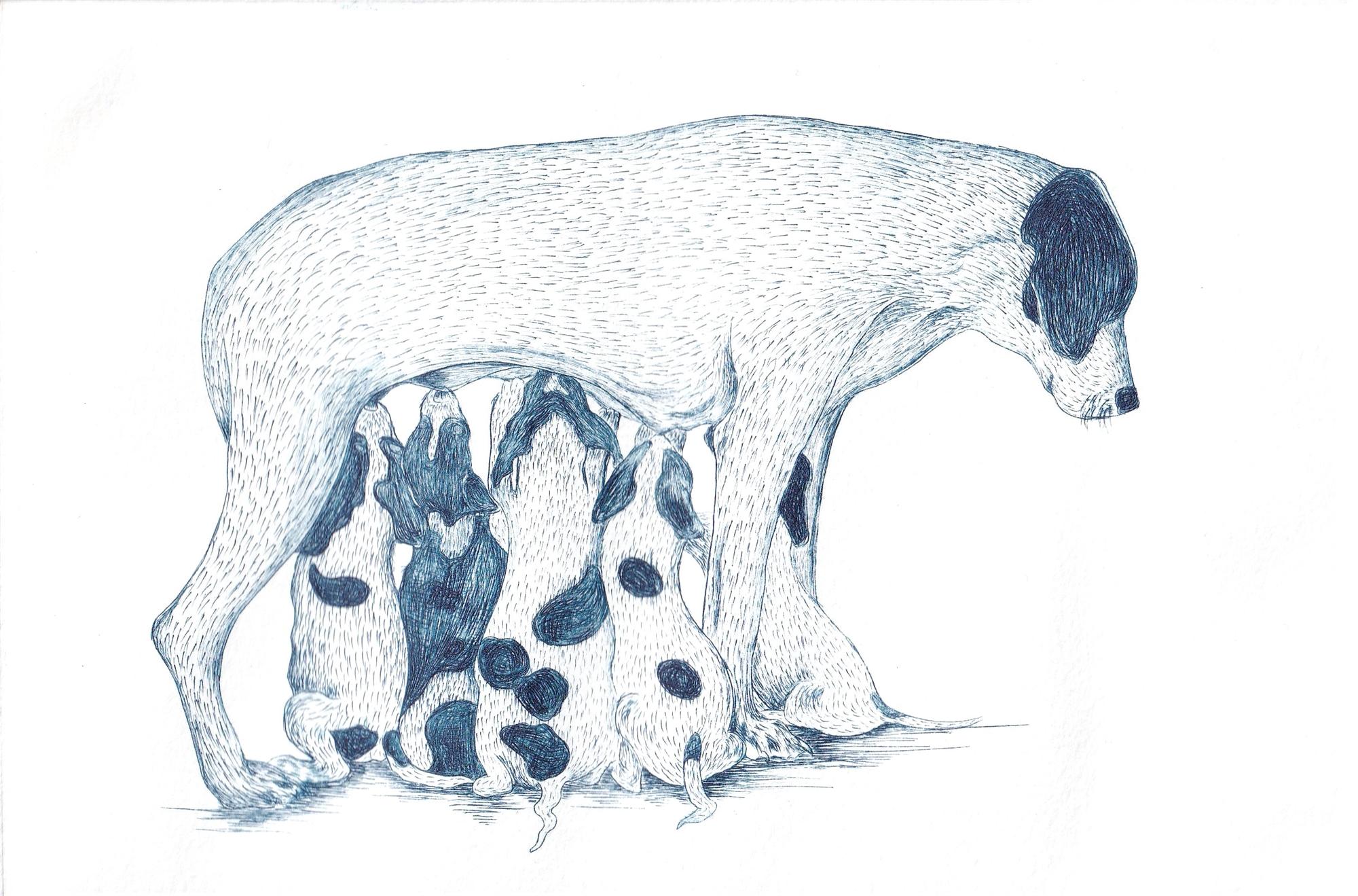 Familia II (Perros) by Miguel Jimenez Martinez