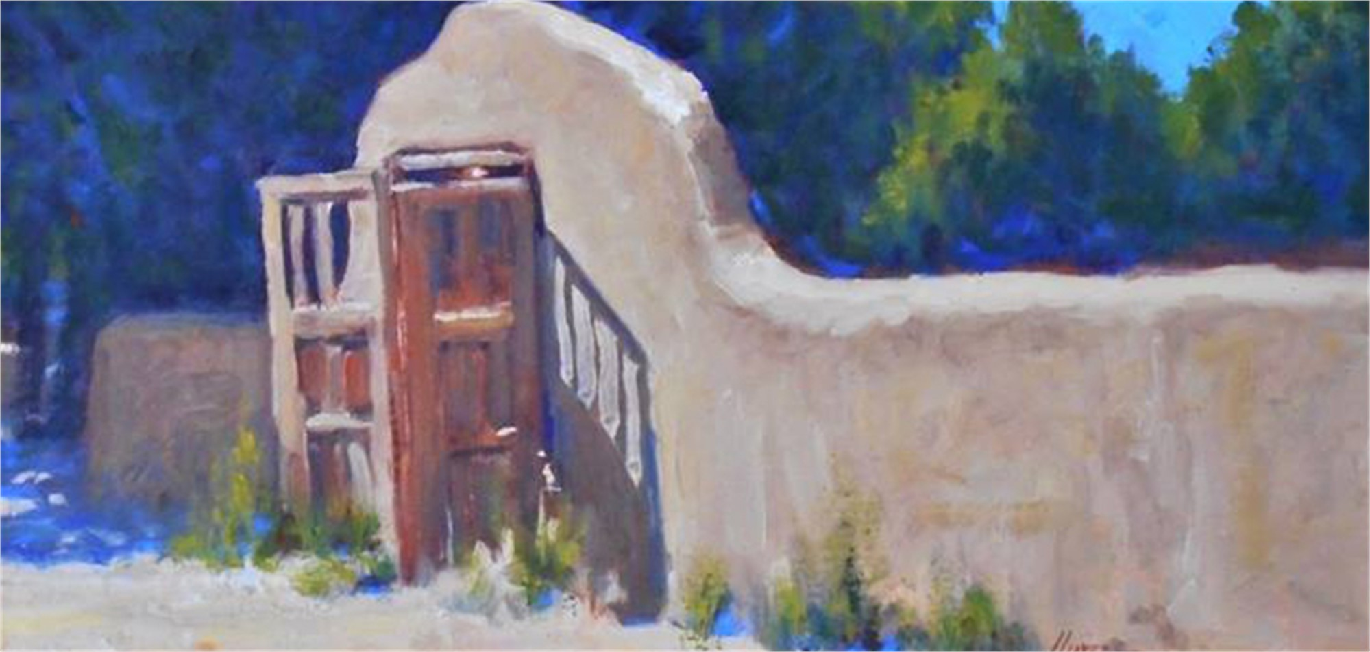 Adobe Wall and Gate by Lorenzo Chavez