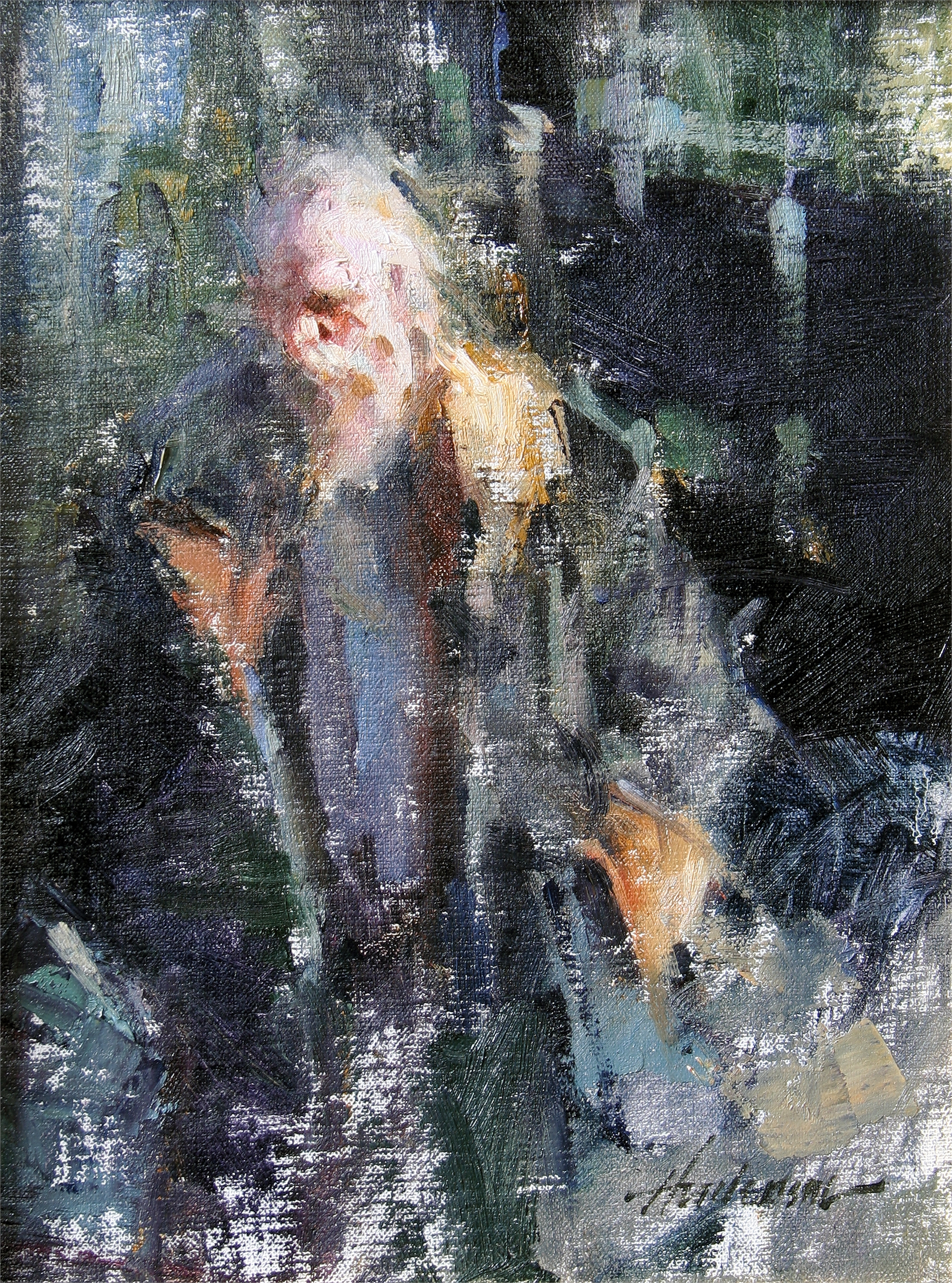 Man in Fur Coat by Carolyn Anderson