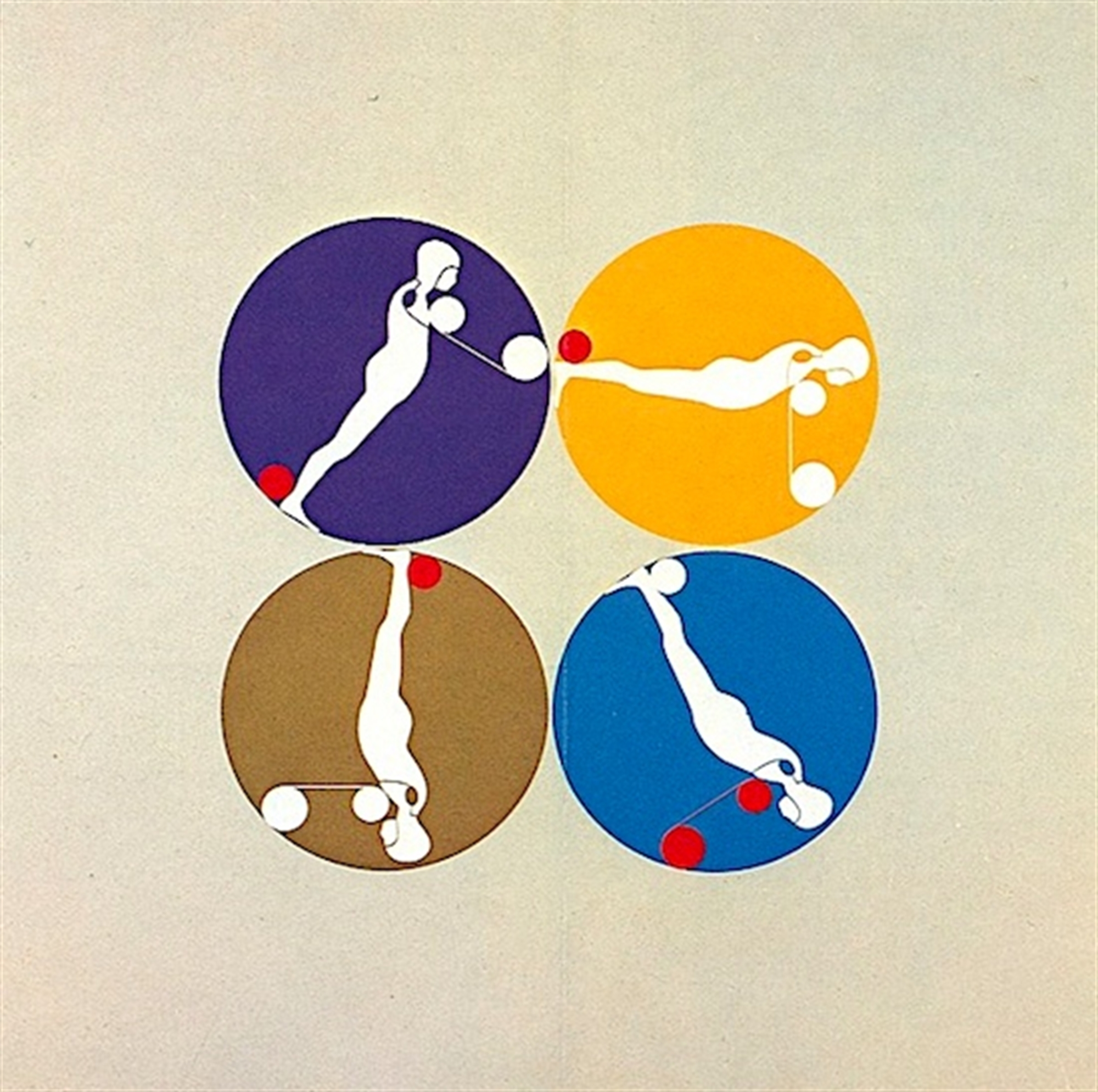 Falling Man Manscapes IX by Ernest Trova