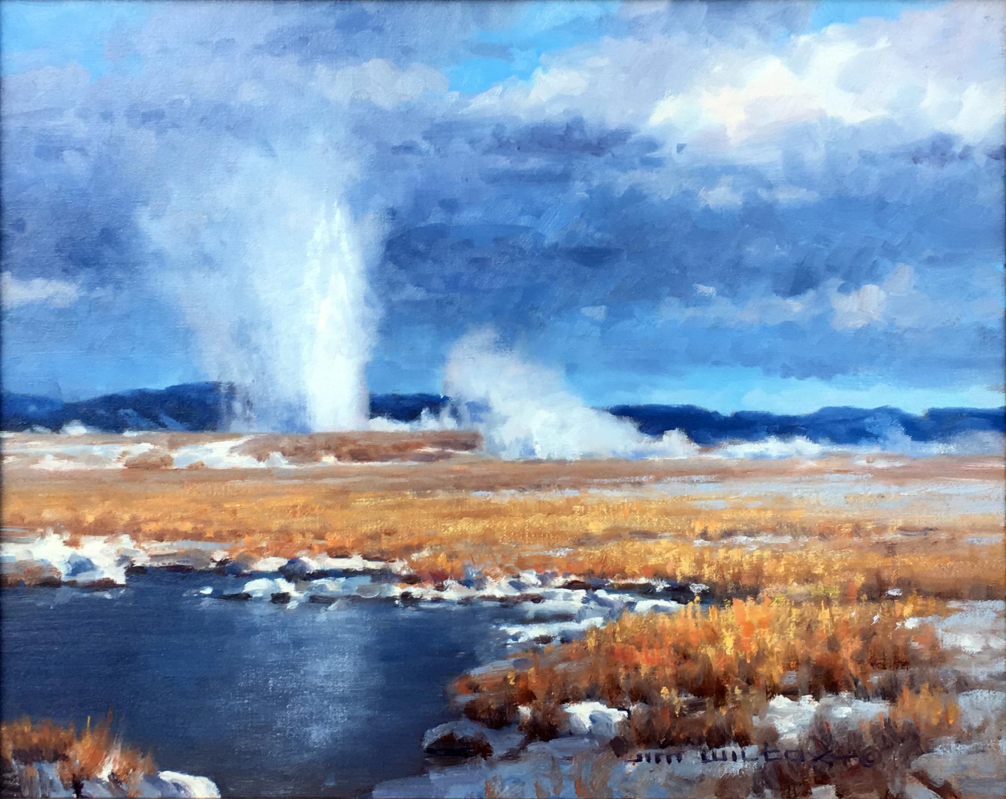 Yellowstone Geyser Basin by Jim Wilcox